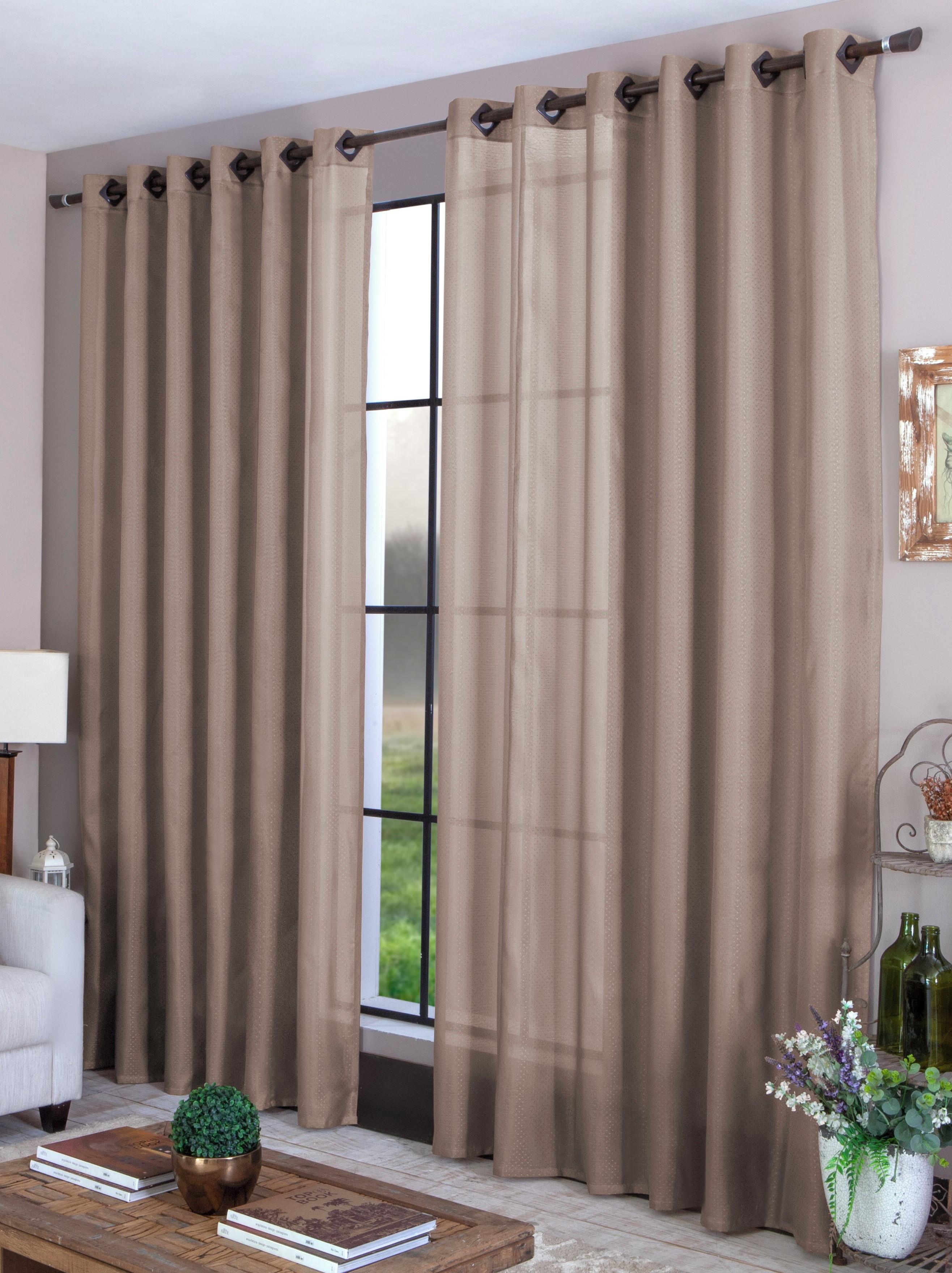 Cortina para sala quarto 3,00 X 1,80 tecido marrom claro no Elo7 ...