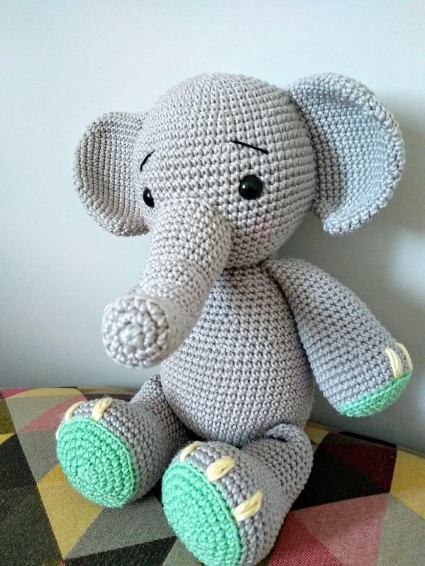Personalizado crochet amigurumi bailarina elefante bebé ducha | Etsy | 1158x869