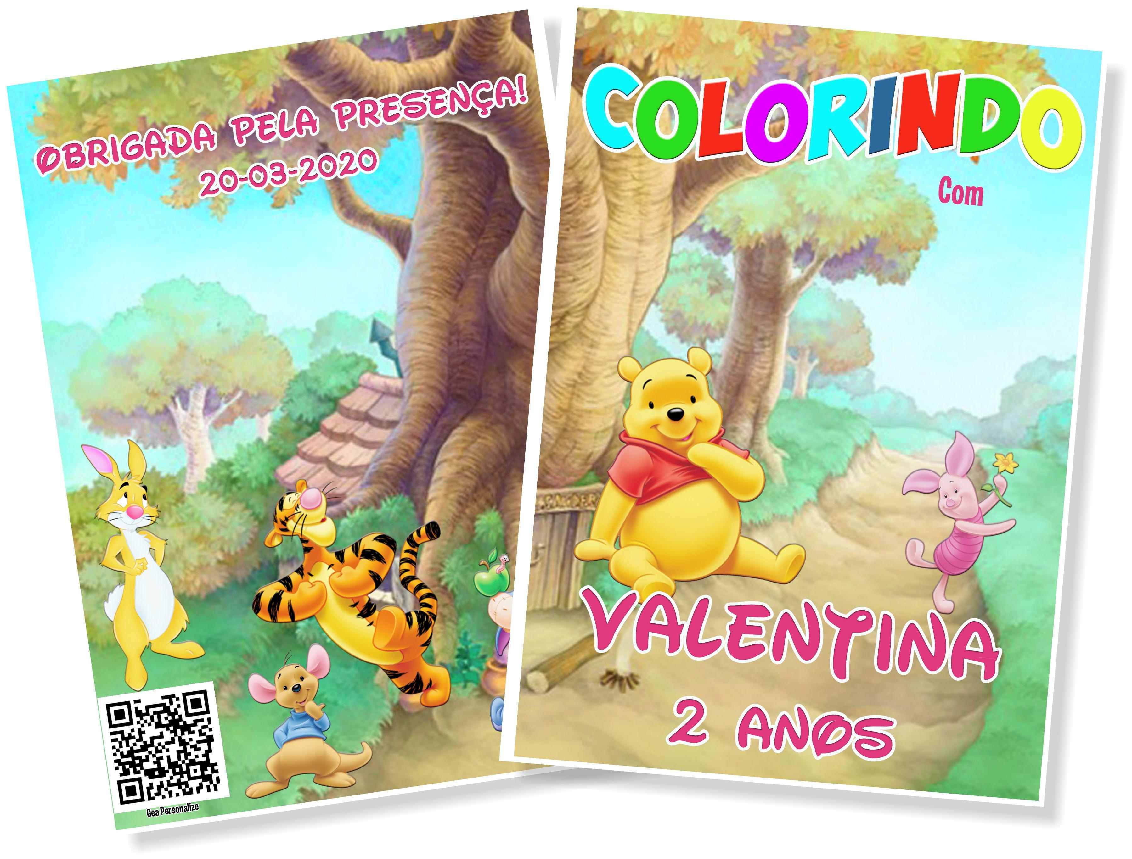 Livro De Colorir 10x15 Ursinho Pooh No Elo7 G A Personalize