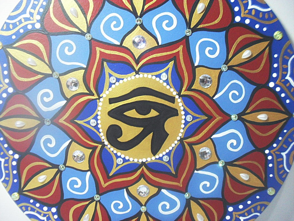 Mandala Olho De Horus No Elo7 Solange Ribas Galeria Das