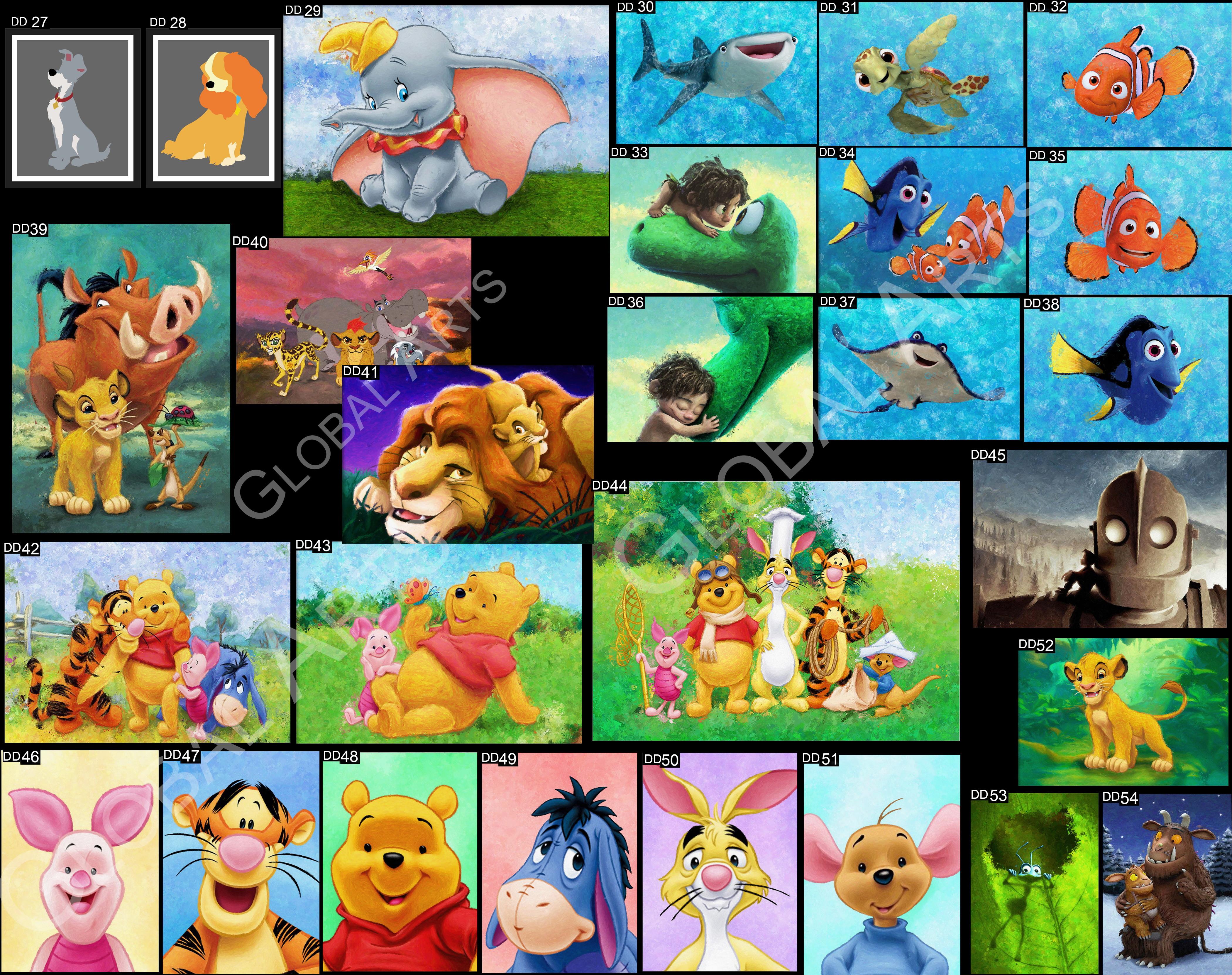 Quadros Infantil Desenhos Animados Disney Bebes Menino No Elo7