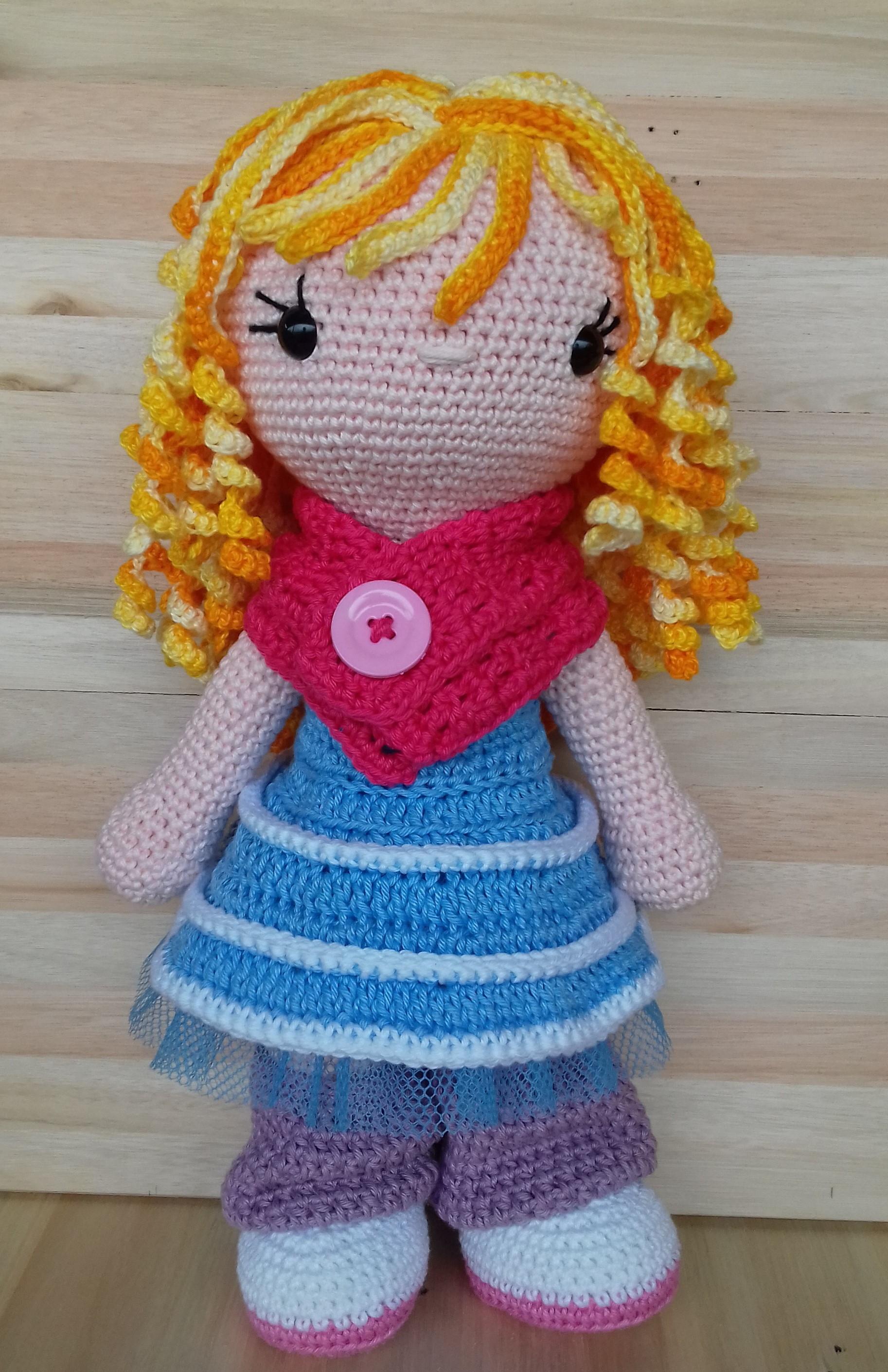 Blonde Amigurumi Doll, Crochet Doll, 16' inches crochet soft doll ... | 2820x1826