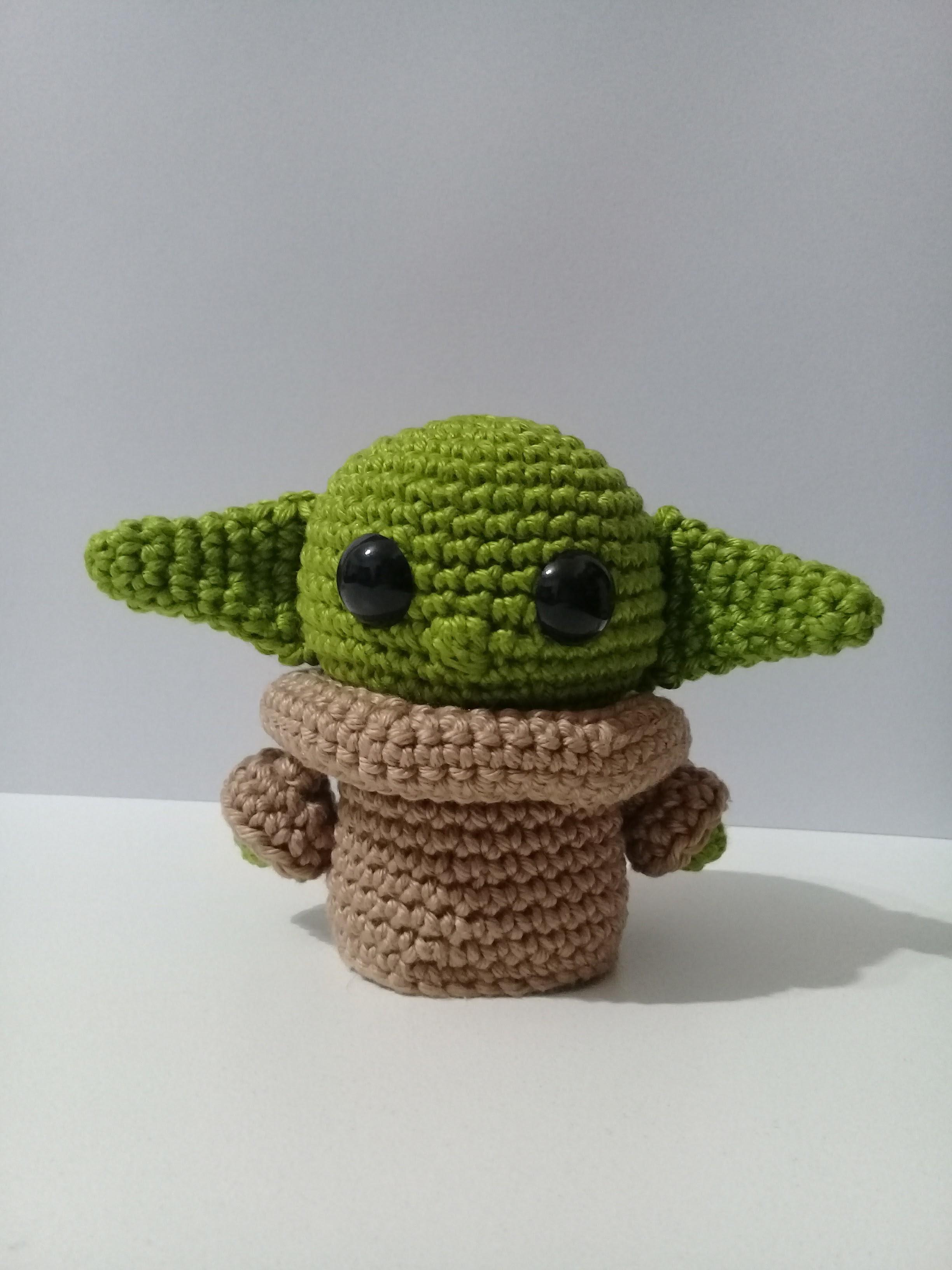 Baby Yoda em amigurumi (médio) no Elo7 | Be my Little Bear (119E562) | 3264x2448