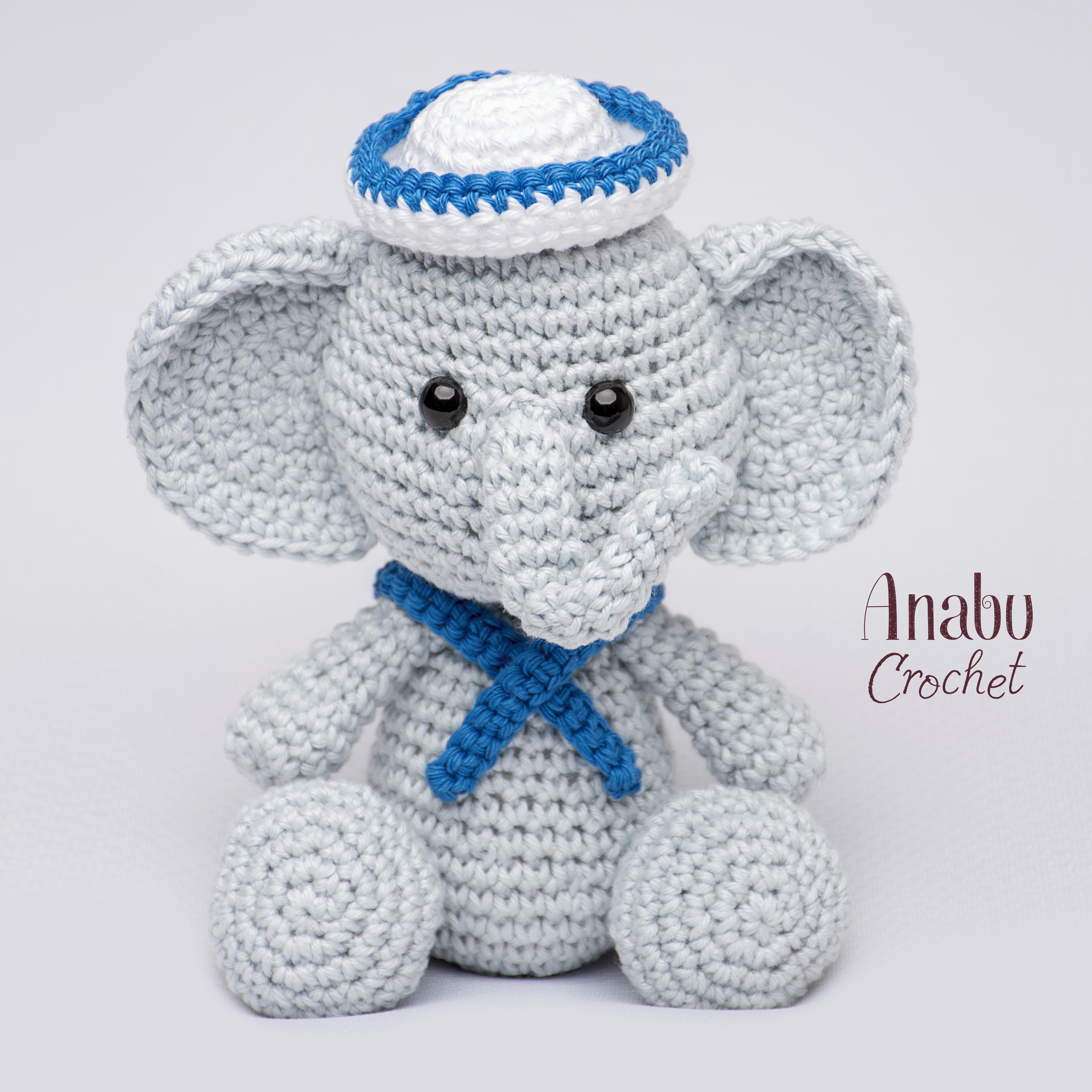 Elefante peluche, amigurumi de Two bee, patron gratis.Elephant ... | 4407x4408