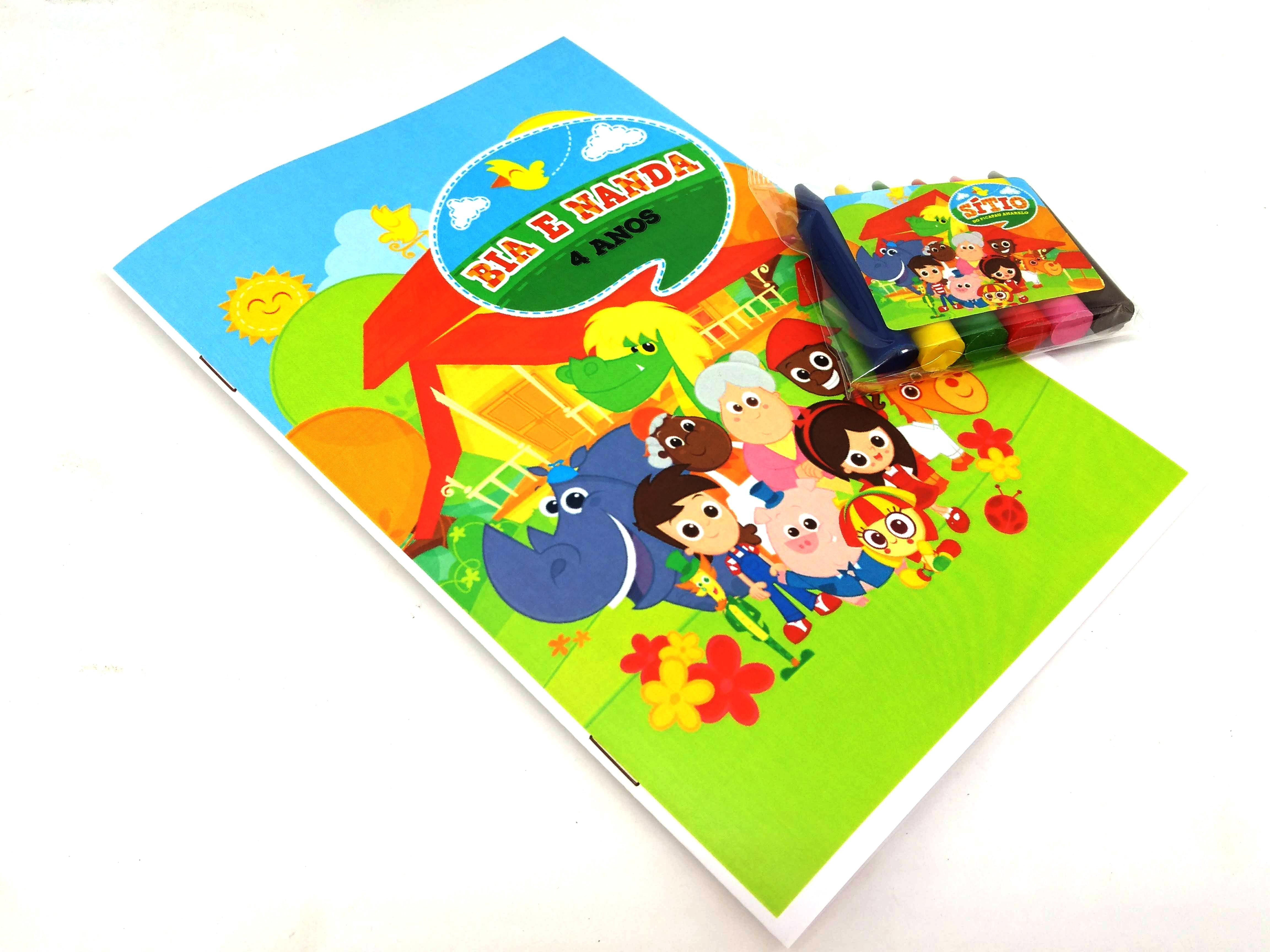 Kit Colorir Revista E Giz Sitio Do Picapau Amarelo No Elo7