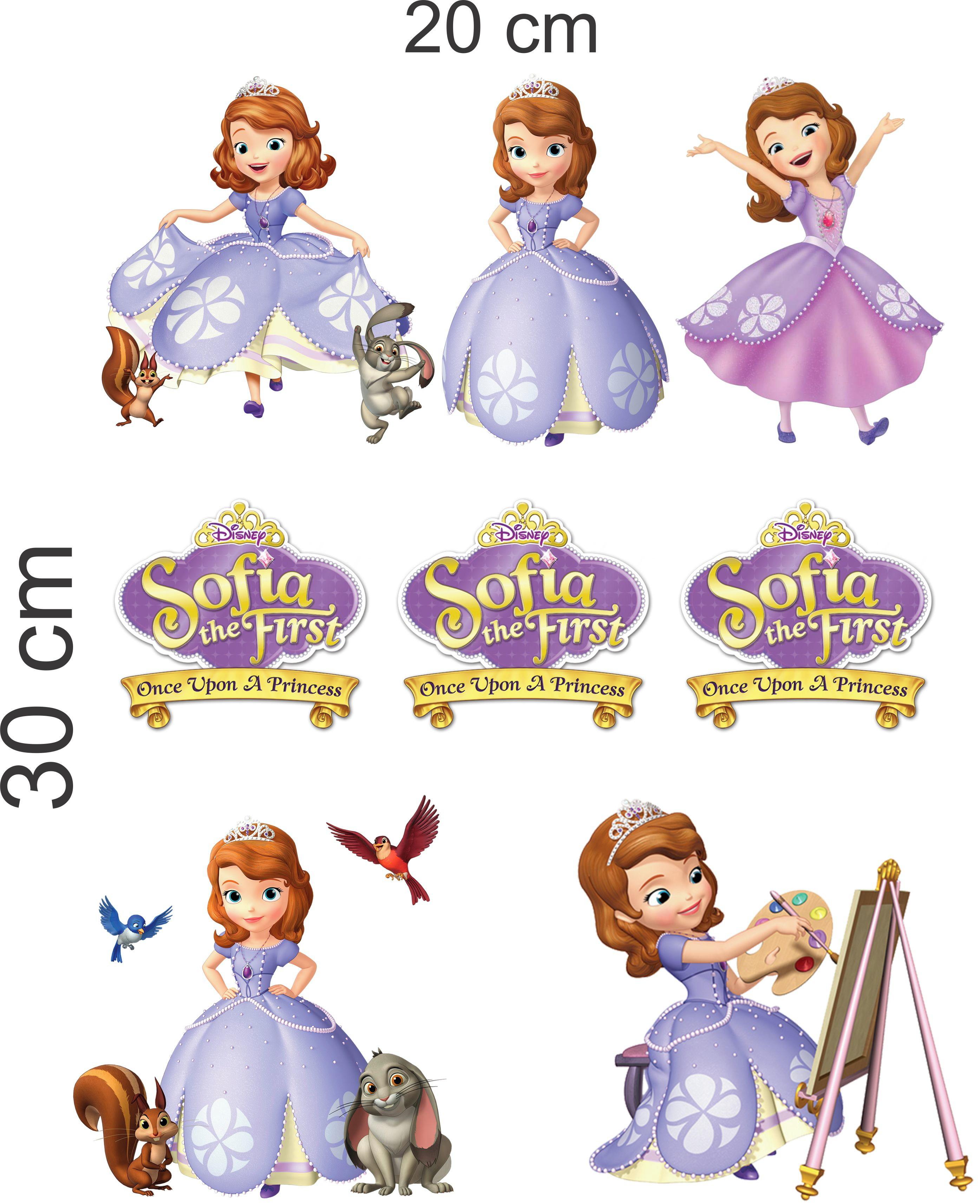 Cartela De Adesivos Decore Caderno Infantil Princesa Sofia 1 No