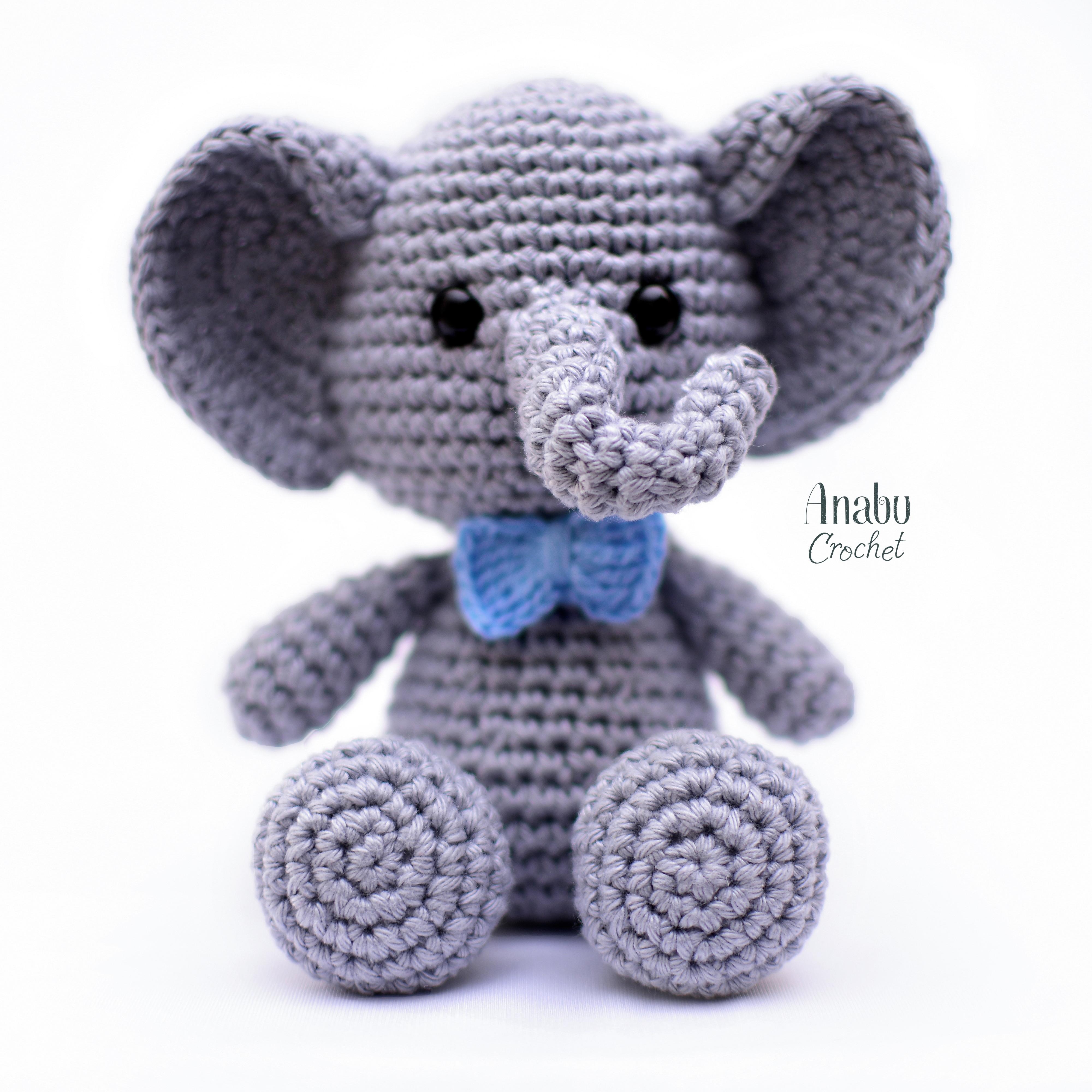 Sonajero elefante en amigurumi - Patrones gratis | 4000x4000