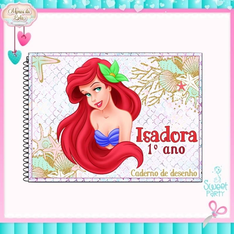 Caderno De Desenho A Pequena Sereia Ariel No Elo7 Mimos Lola
