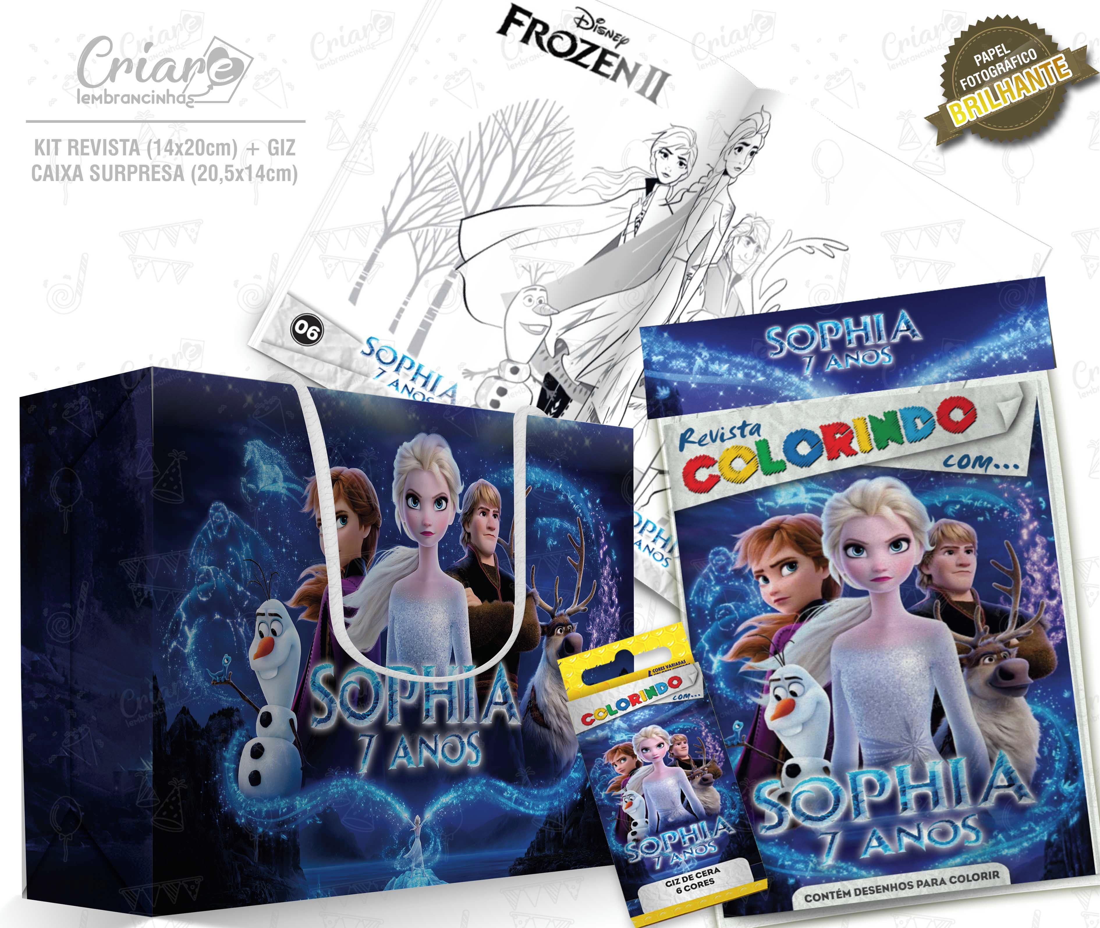 Caixa Surpresa Kit De Colorir Frozen 2 Modelo 1 No Elo7