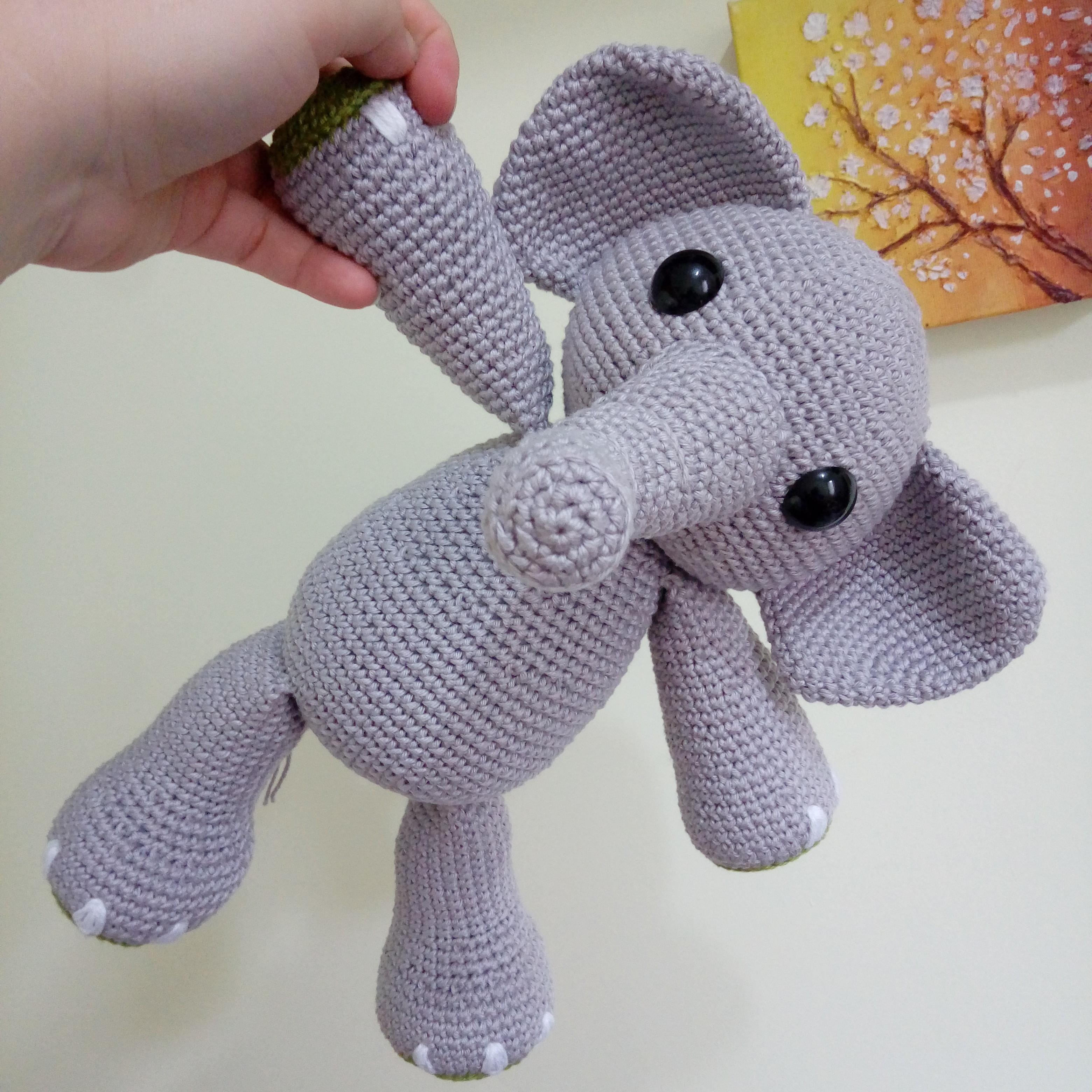 Elefante Elefantinho Ursinho Amigurumi Em Crochê Barato - R$ 69,90 em  Mercado Livre | 3120x3120