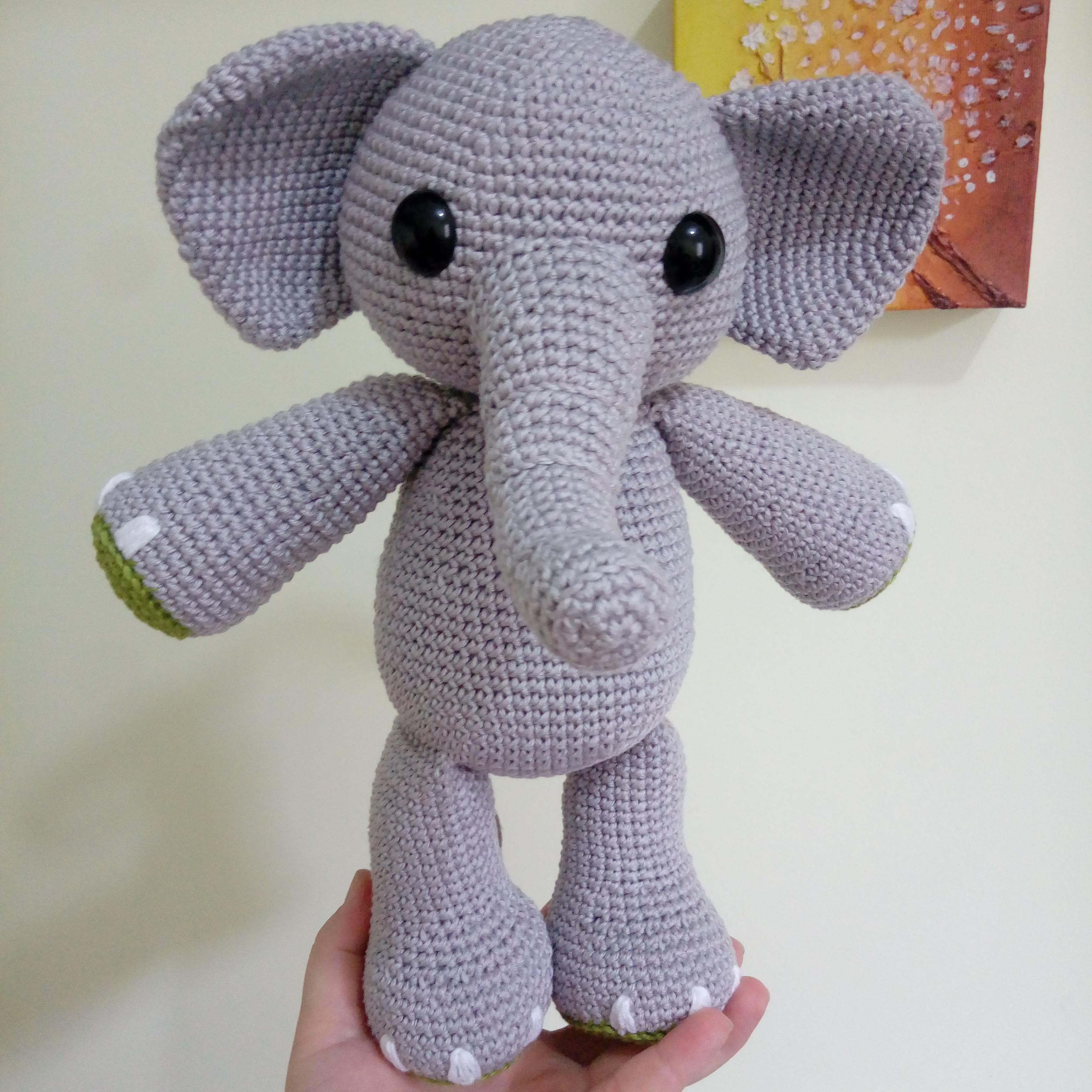 Amigurumi Elefante Grande! Kit Con Sonajero- Muñeco Apego - $ 999 ...   3120x3120