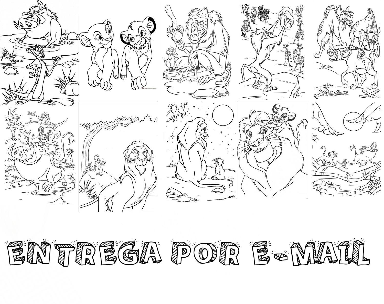 Desenho Para Colorir O Rei Leao No Elo7 Fernando Felix 11ae503