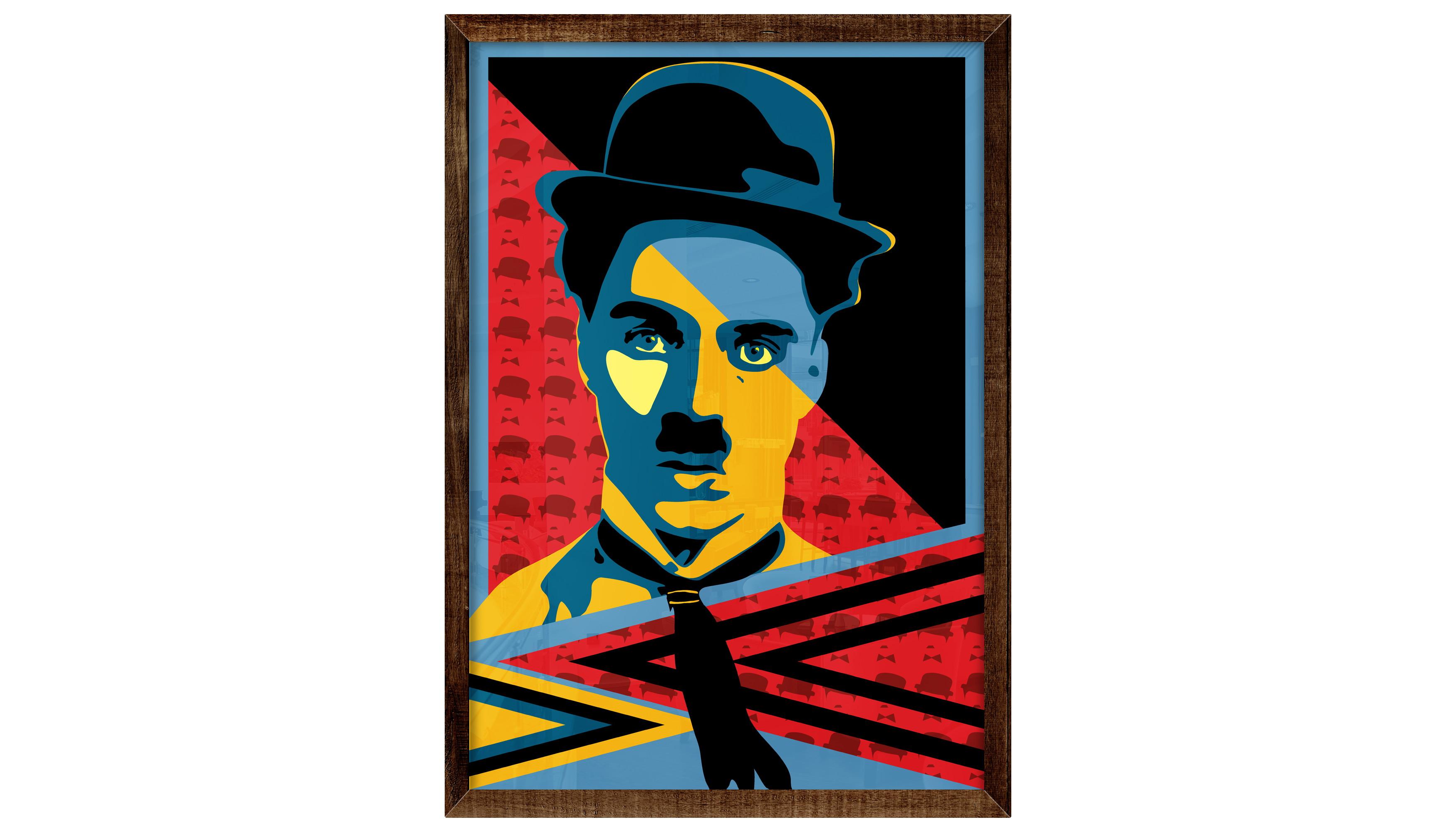 Quadro Poster Cinema Ator Charlie Chaplin Tempos Modernos No Elo7