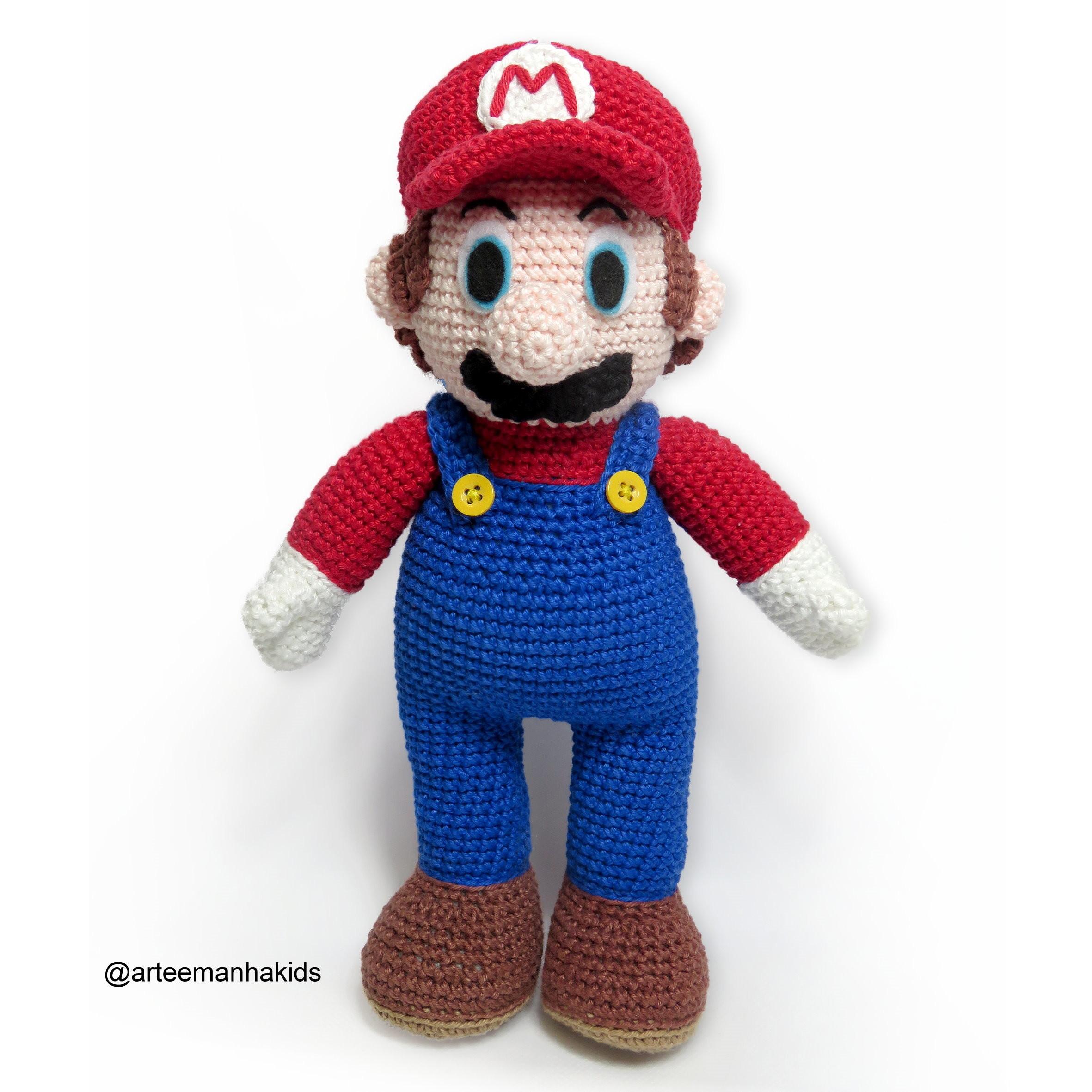 Luigi | Mario crochet, Crochê super mario e Padrões de croché para ... | 2362x2362