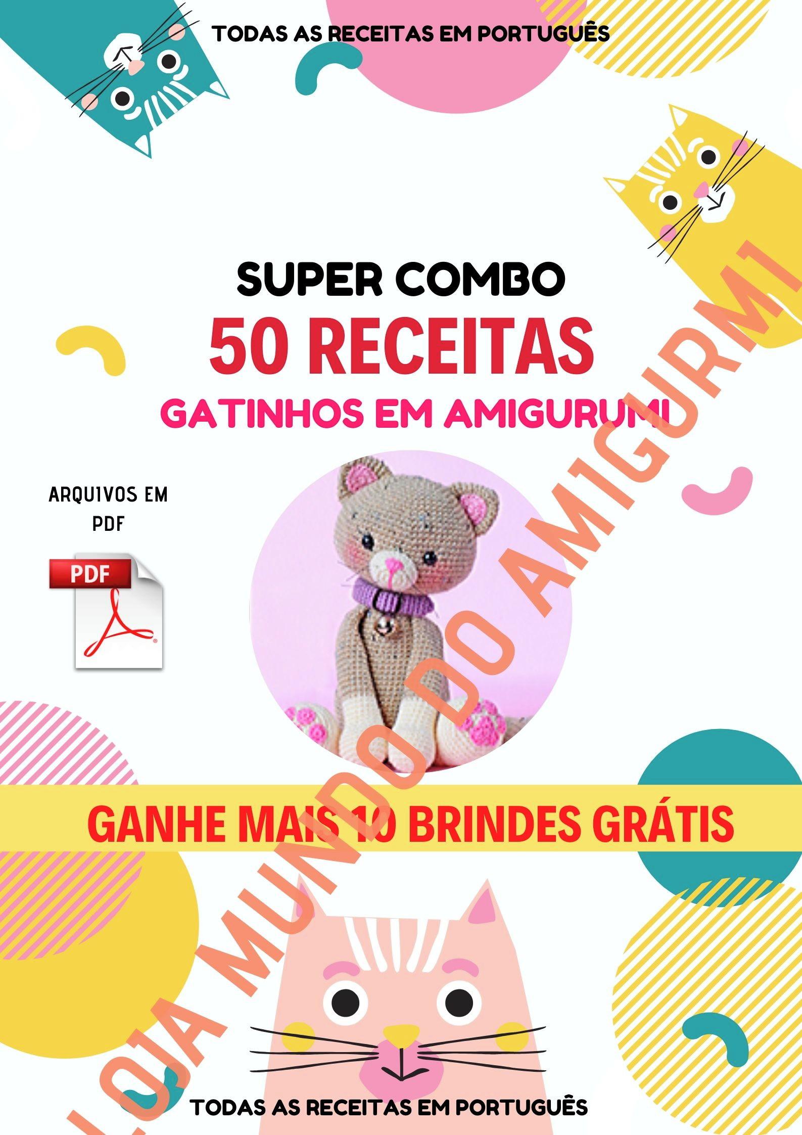 Curso sobre Amigurumi. São Mais De 1300 Receitas Em Português e 5 ... | 2245x1587