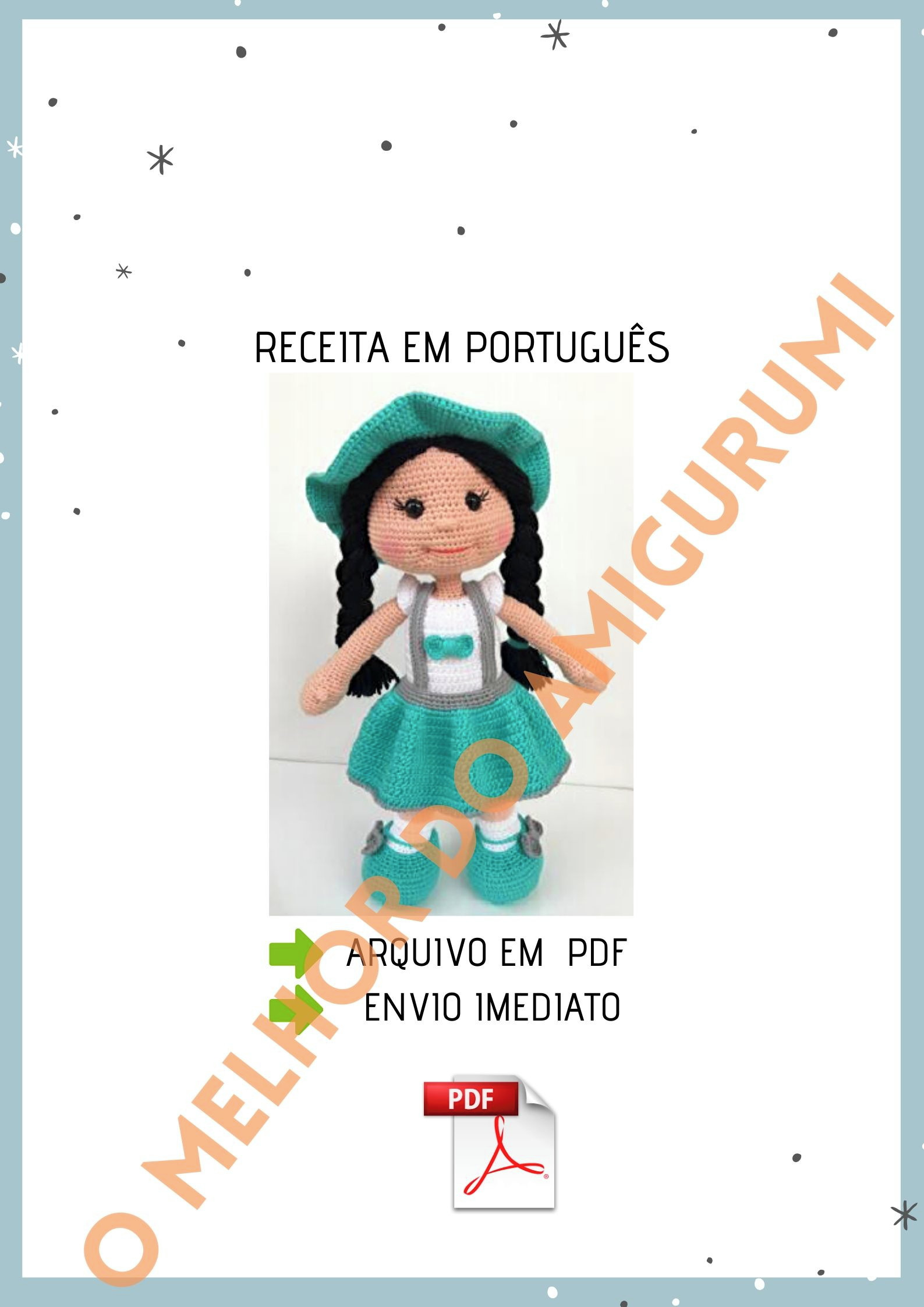 Boneca Russa em Amigurumi | Bonecas de crochê, Boneca russa, Arte ... | 2245x1587