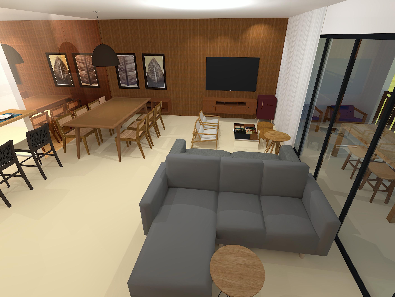 Image of: Projeto 3d Cozinha Sala Jantar E Estar Acima 23m No Elo7 Mimos De Casa Store 122cda1