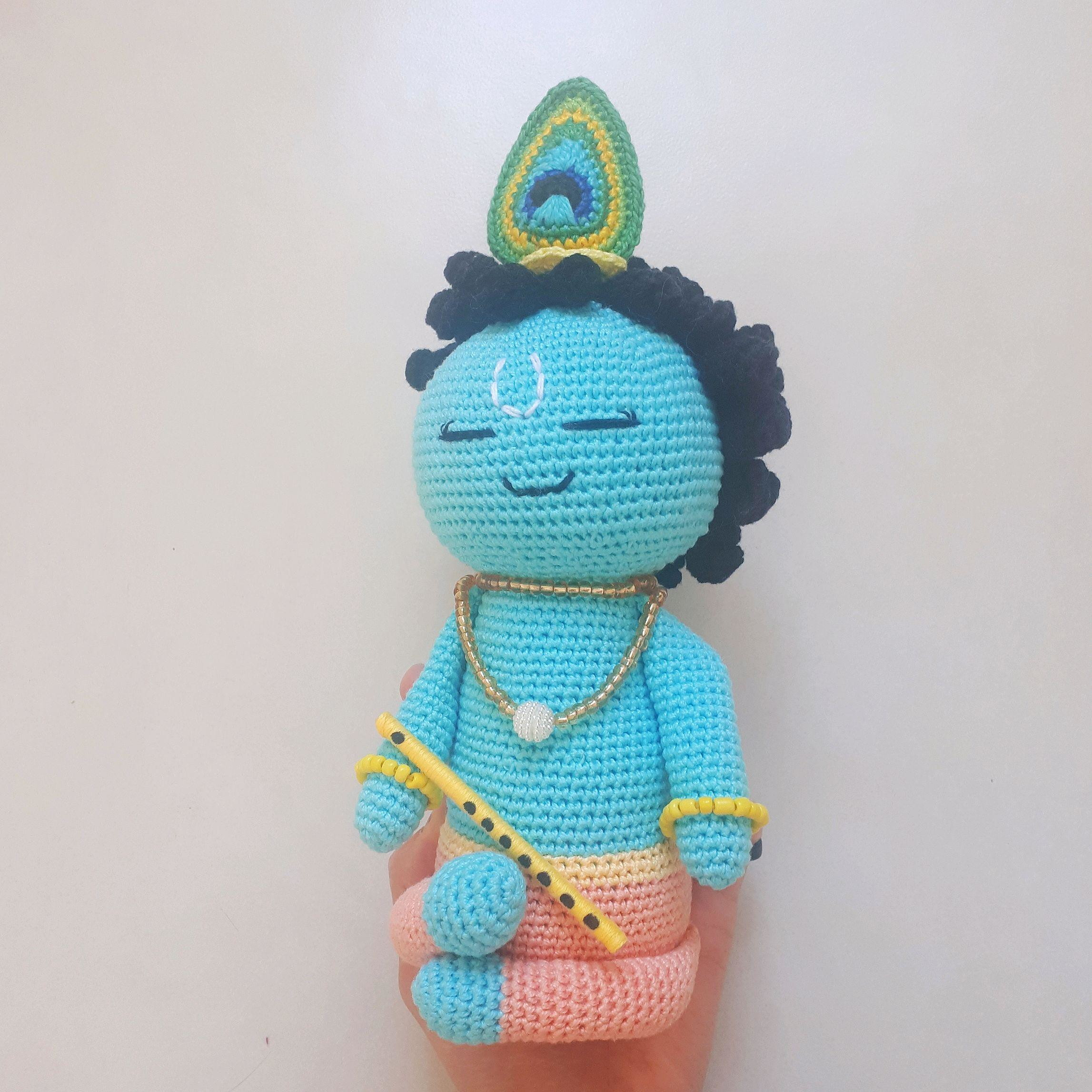 How to make crochet Krishna, baal-gopal at home (part-1). - YouTube | 2294x2294