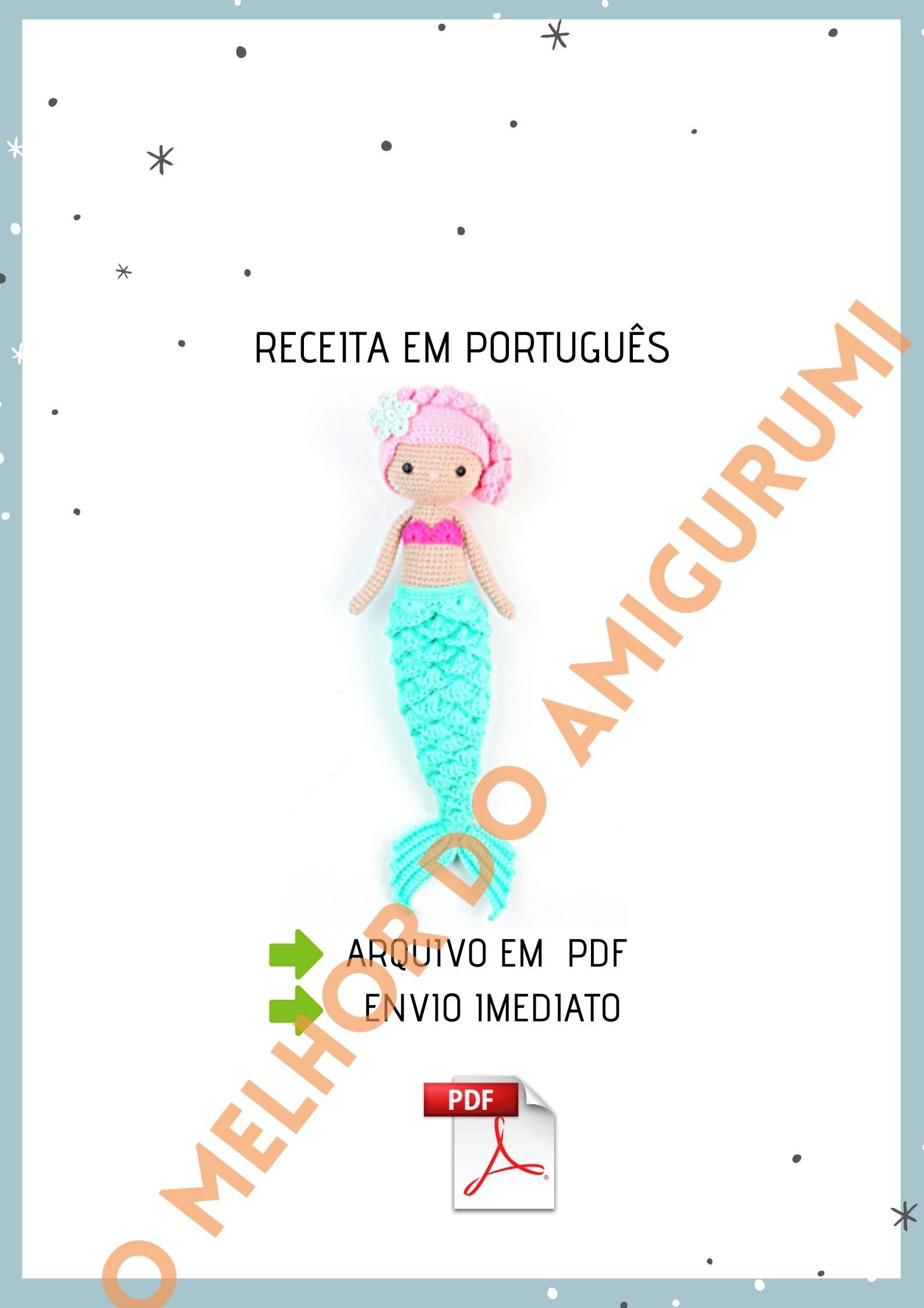 Receitas Amigurumi em Português, Receitas Amigurumi Boneca gratis ... | 2245x1587