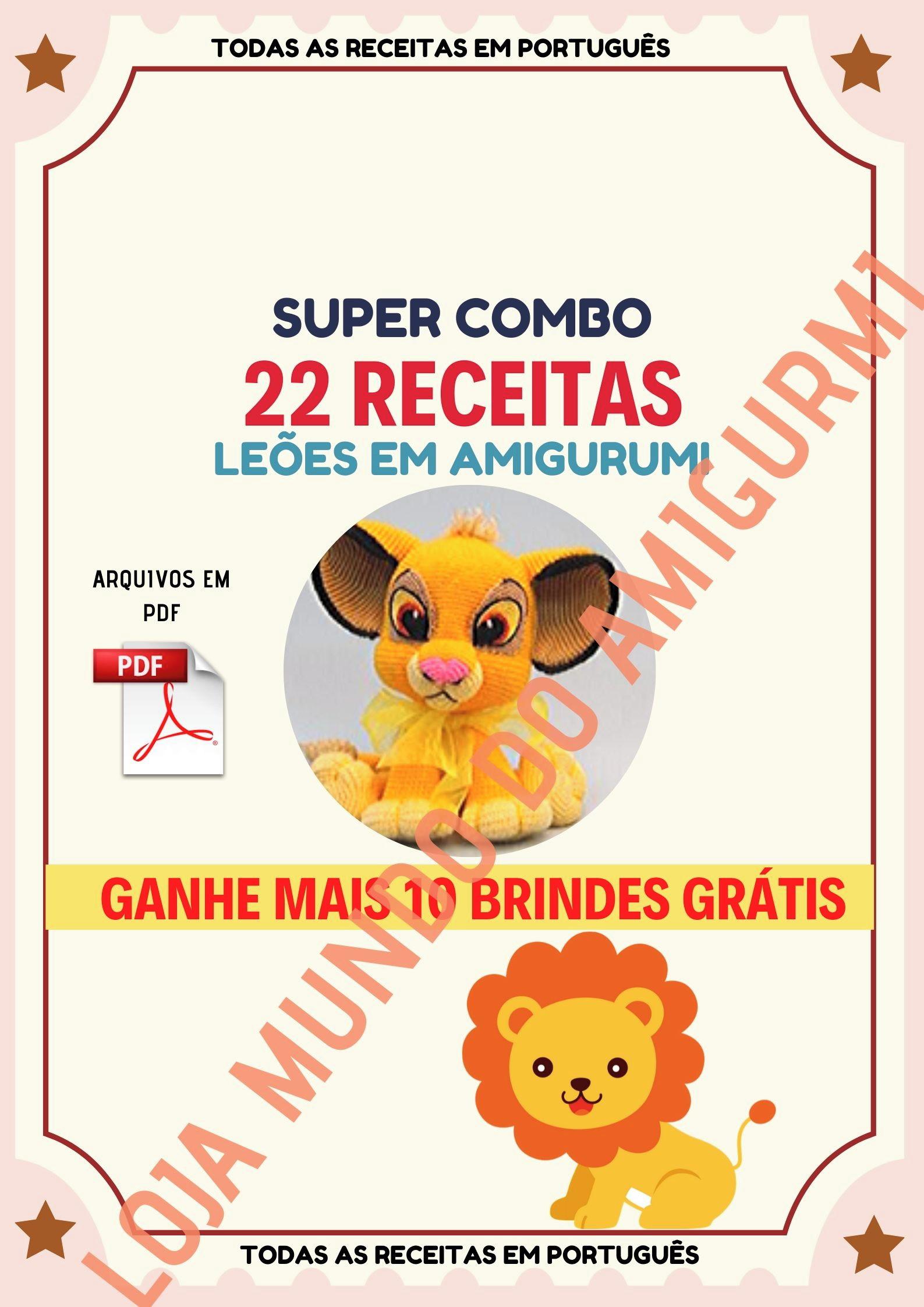 89 Receitas Amigurumi Urso Em Português - R$ 120,00 em Mercado Livre | 2245x1587
