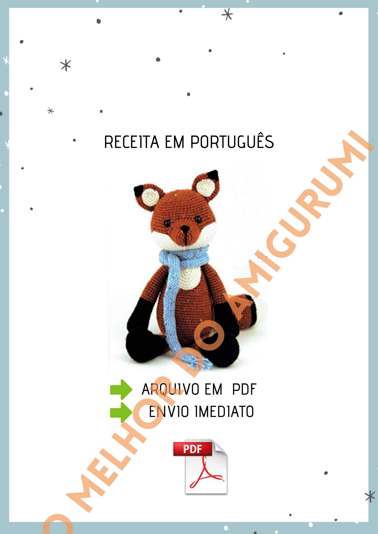 Urso cachecol | Little Things Amigurumis | Talk7 | Urso, Animais ... | 2245x1587