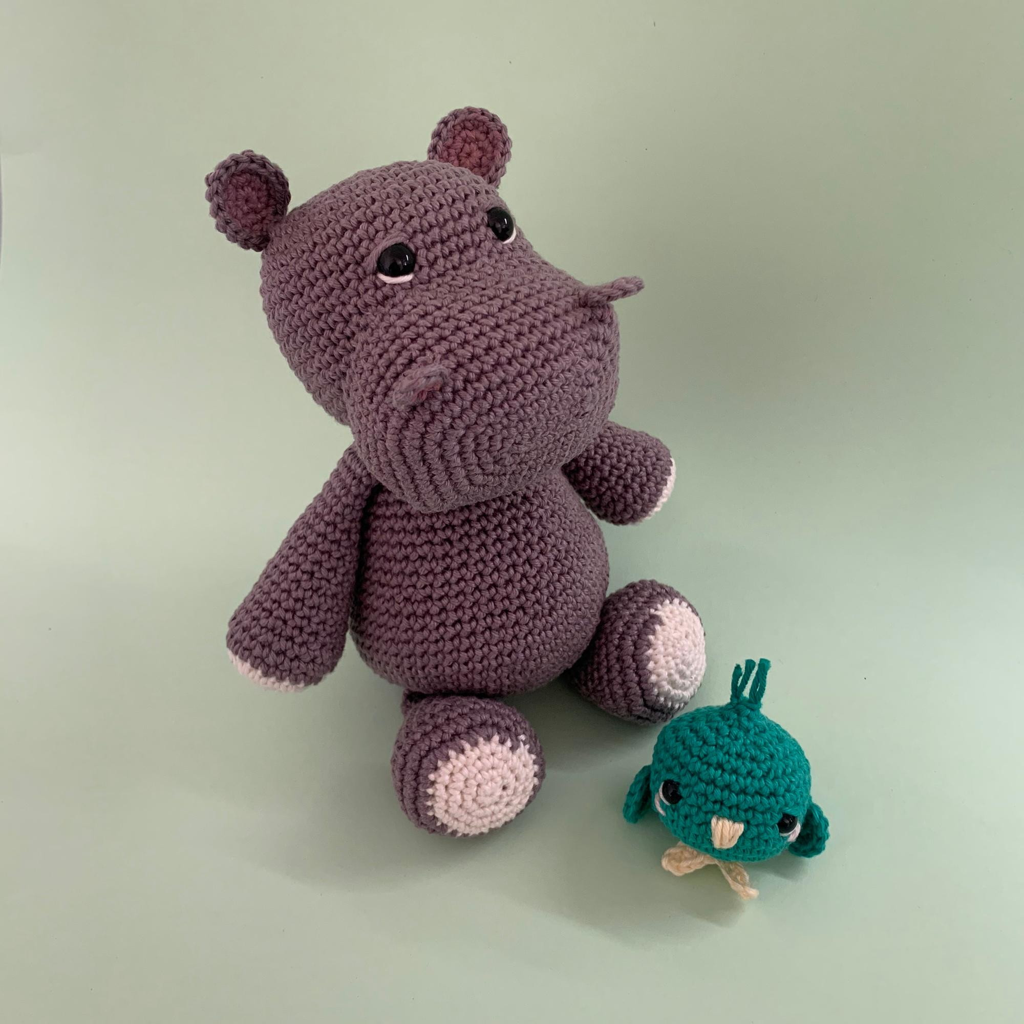 Amigurumi Pattern: The hippopotamus Melman and his friend Pi ... | 2000x2000