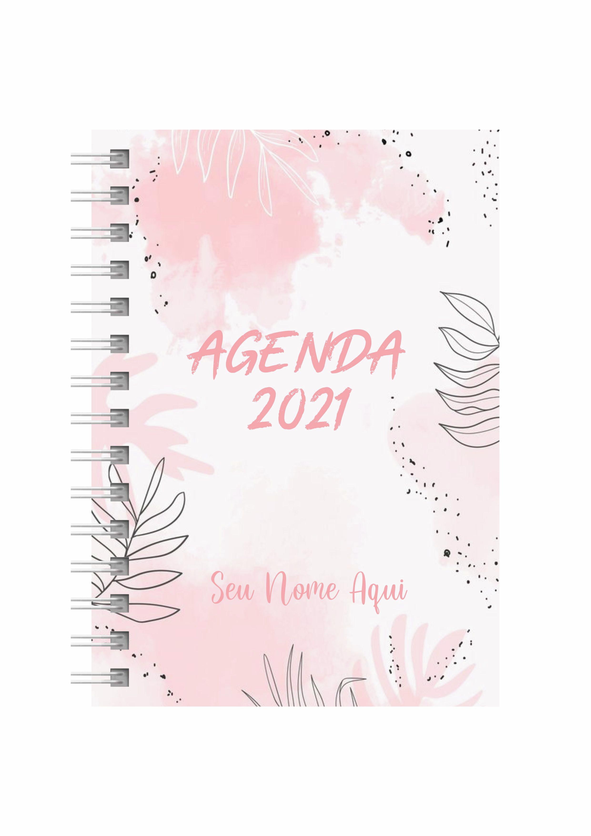 Agenda Personalizada 2021 Floral No Elo7 Renato Faria Almeida 12686f7