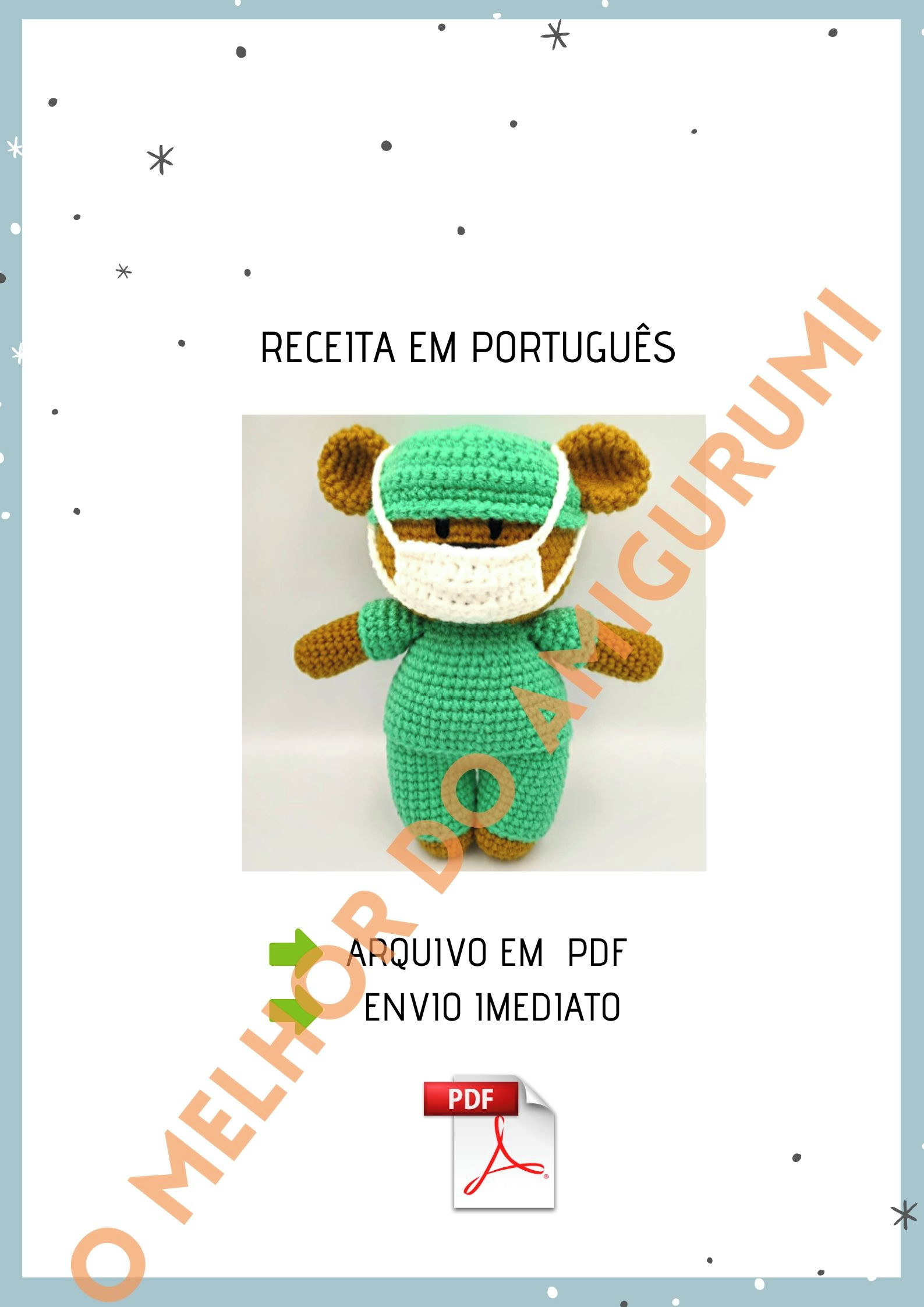amigurumi #urso urso Barroco Maxcolor - YouTube | 2245x1587