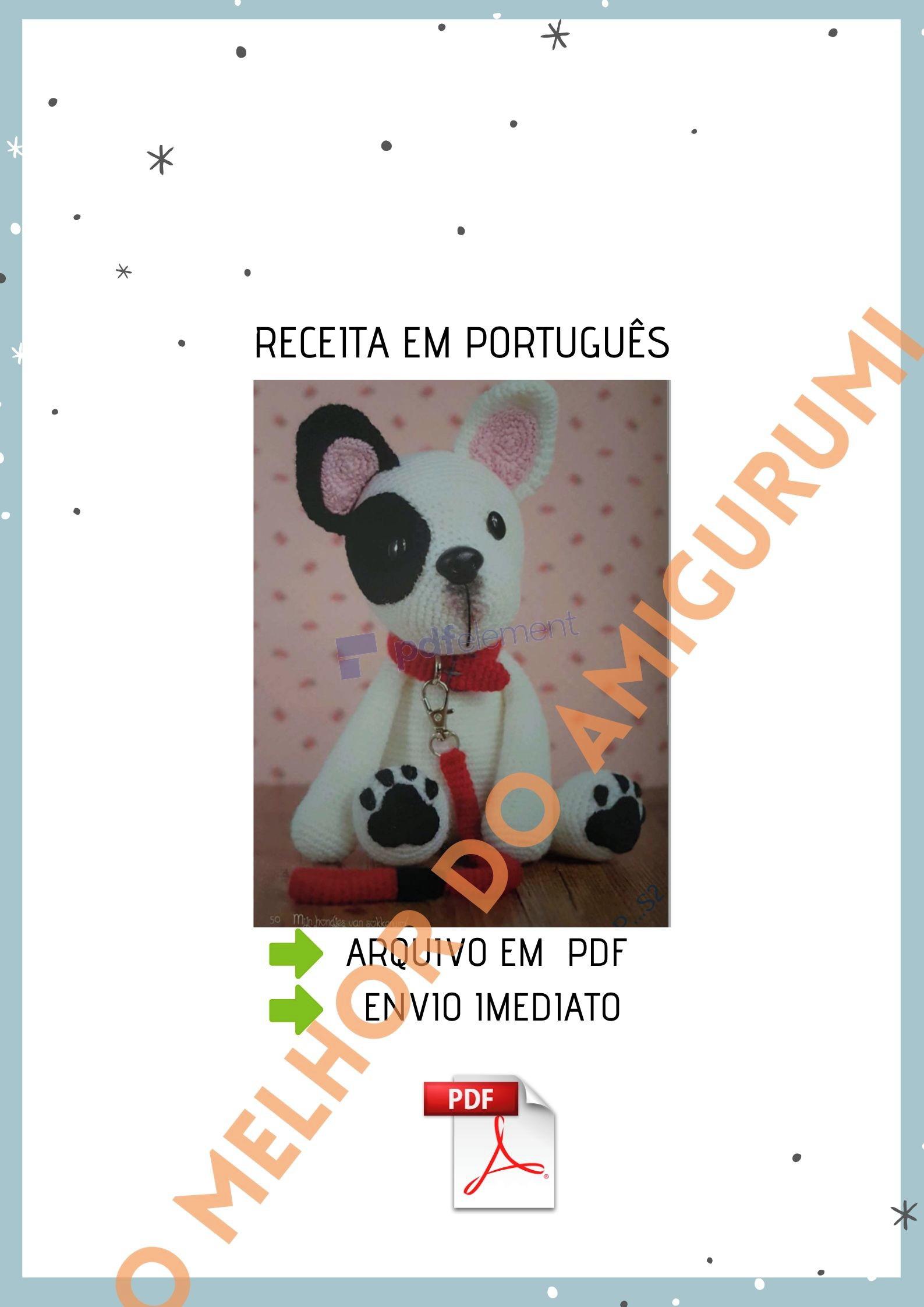 Elfin Thread- Queency The Pug Puppy Amigurumi PDF Pattern (Crochet ... | 2245x1587