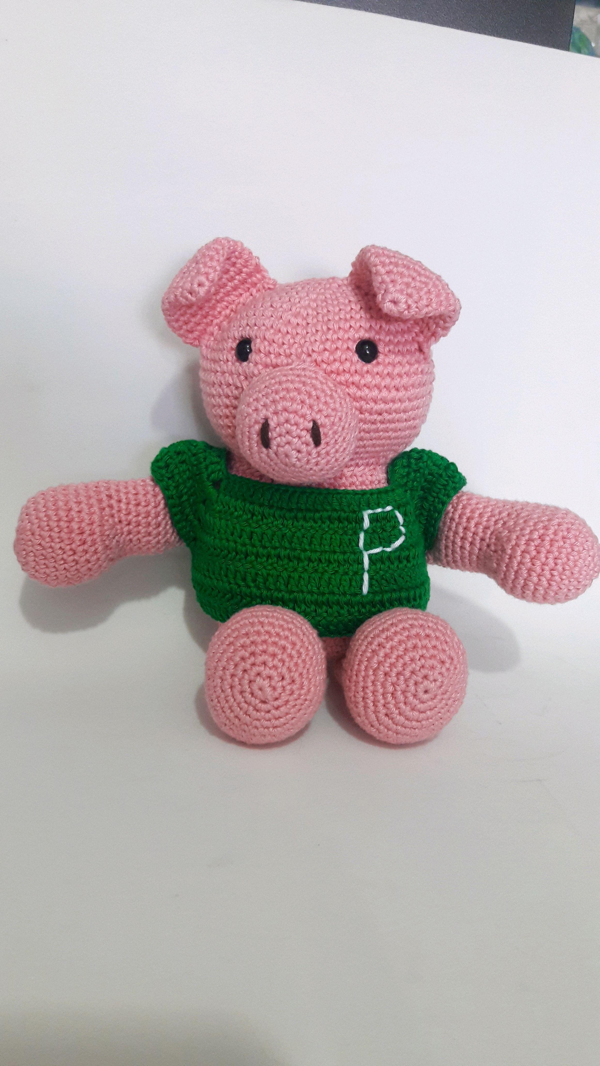 Pin de Наталья Гордийчук em my dolls crochet | Porco de crochê ... | 4128x2322