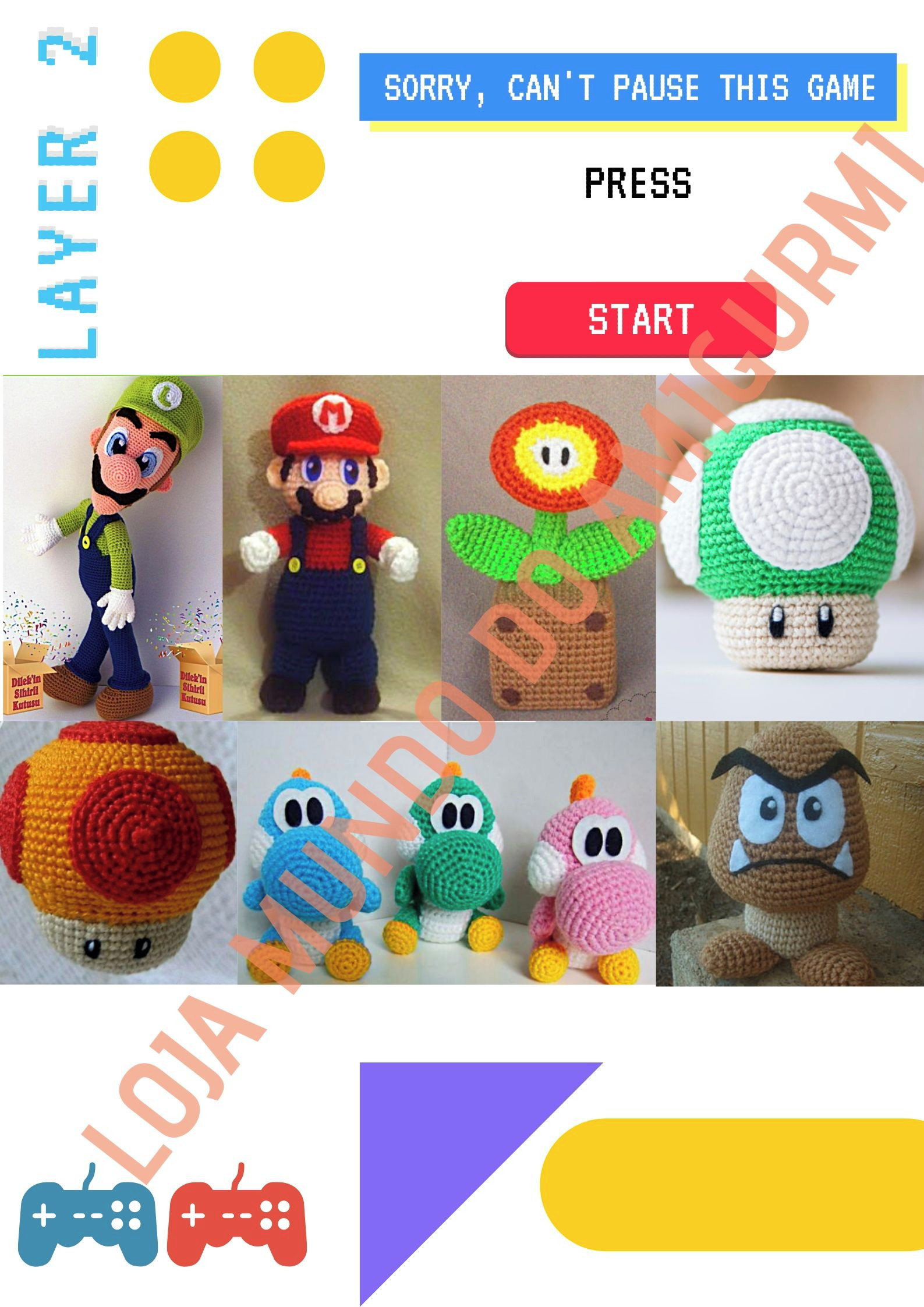 1Up Mushroom ( | Mario crochet, Crochet patterns amigurumi ... | 2245x1587