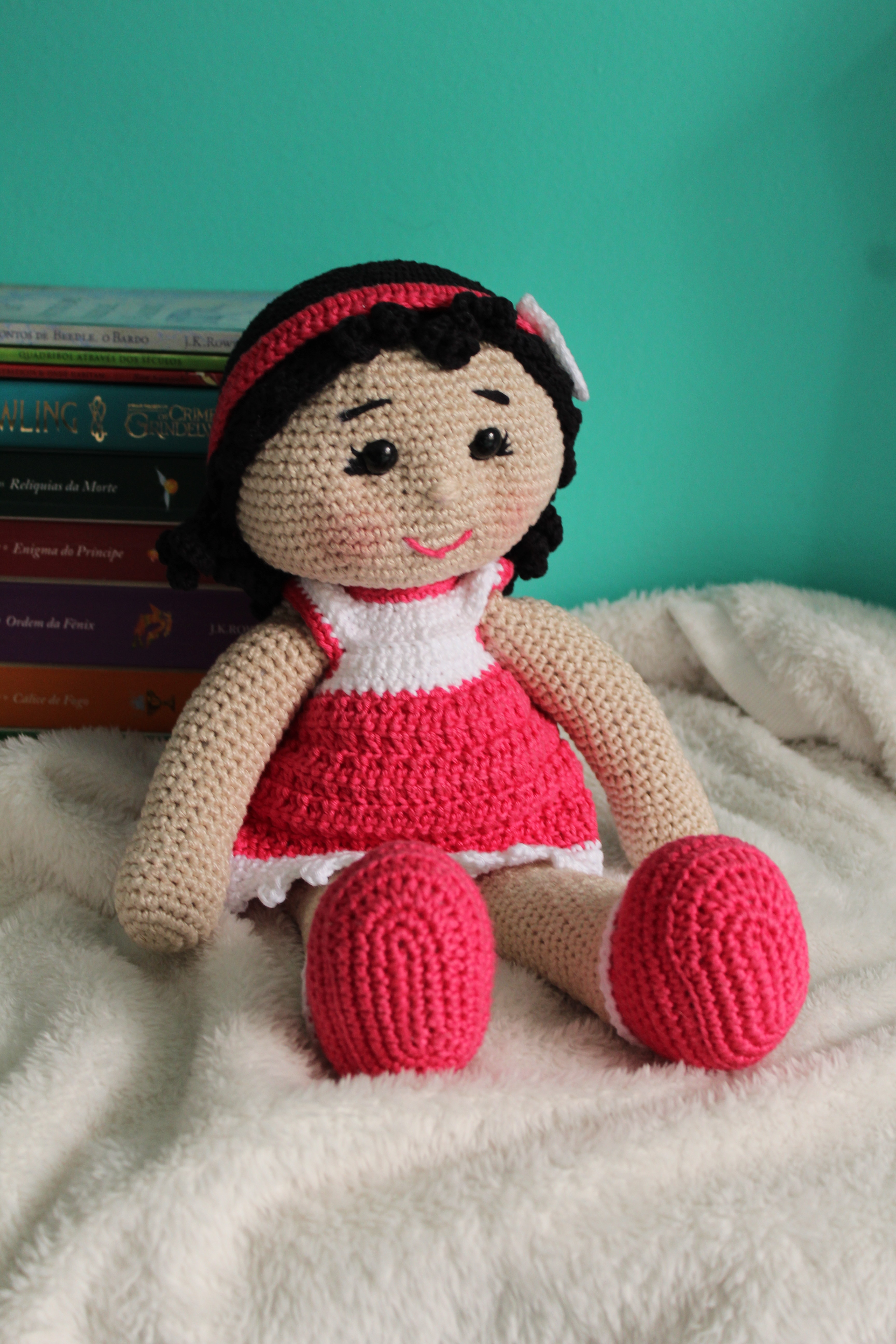 Boneca de croche Lulu + Coelhinho Tob amigurumi 25cm no Elo7 ...   5184x3456