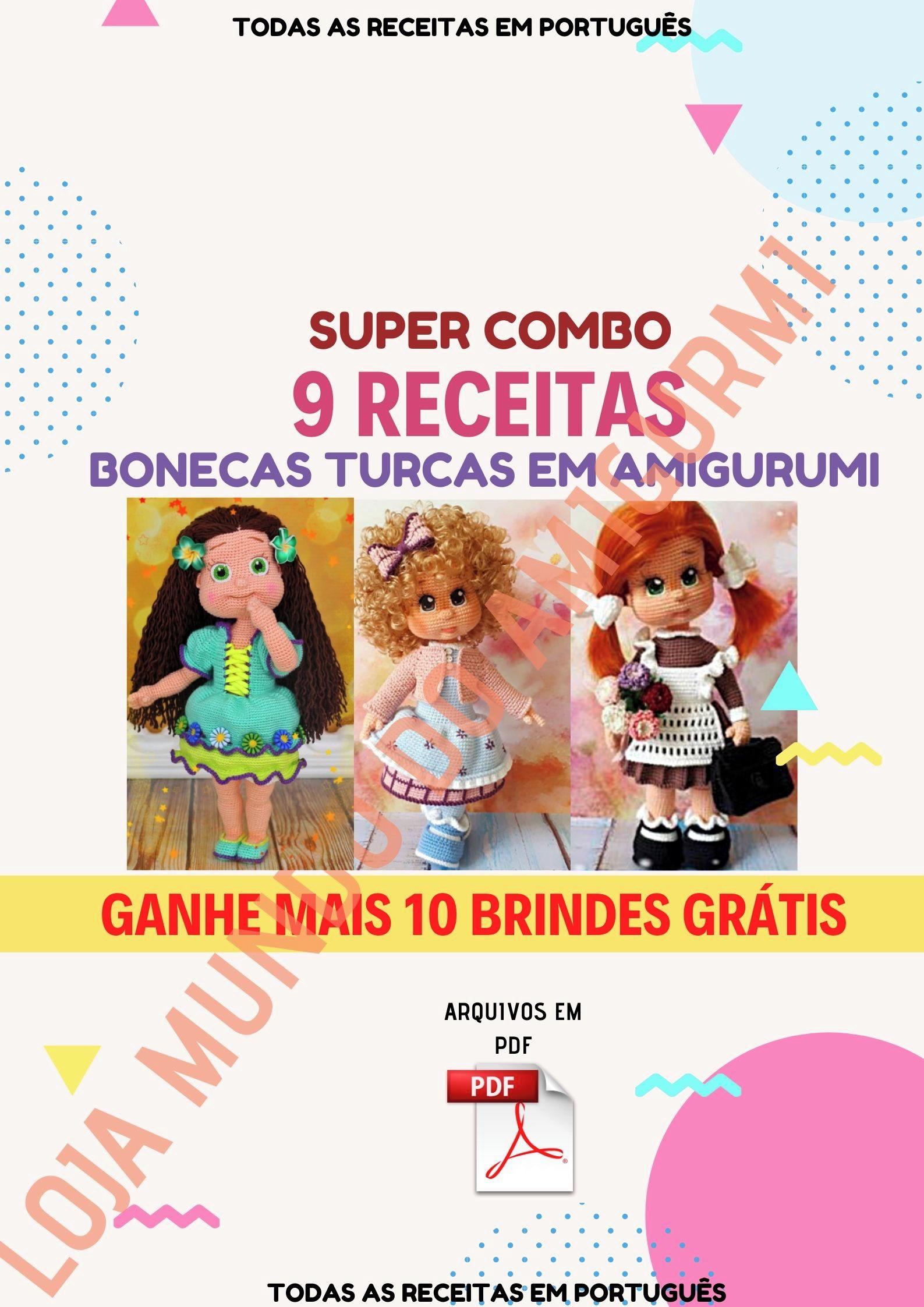 Amigurumi Receitas Português - Unicórnio Amigurumi de Crochê Parte ... | 2245x1587