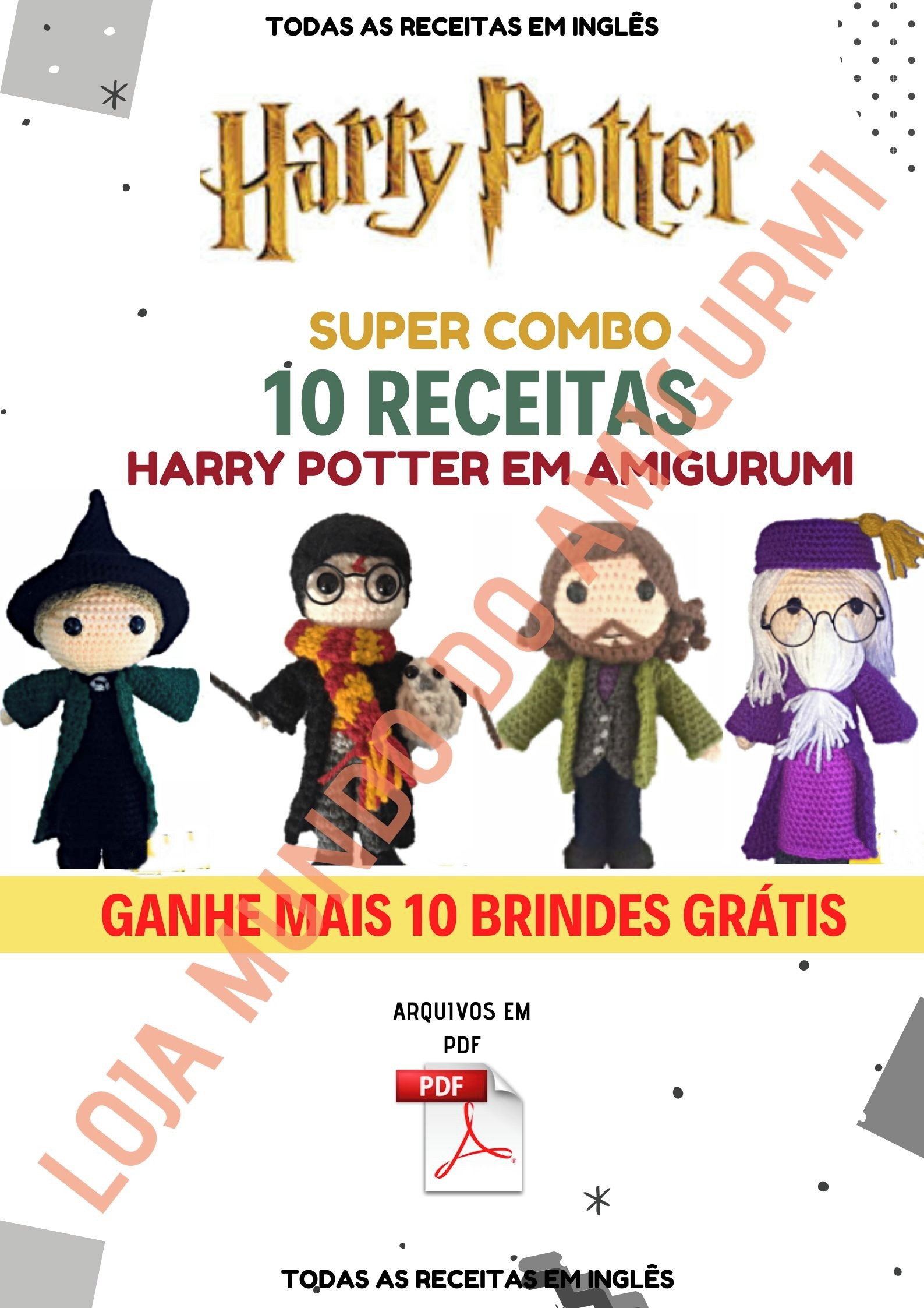 Amigurumi Harry Potter +de 60 Modelos e Ideias | Crochê do harry ... | 2245x1587