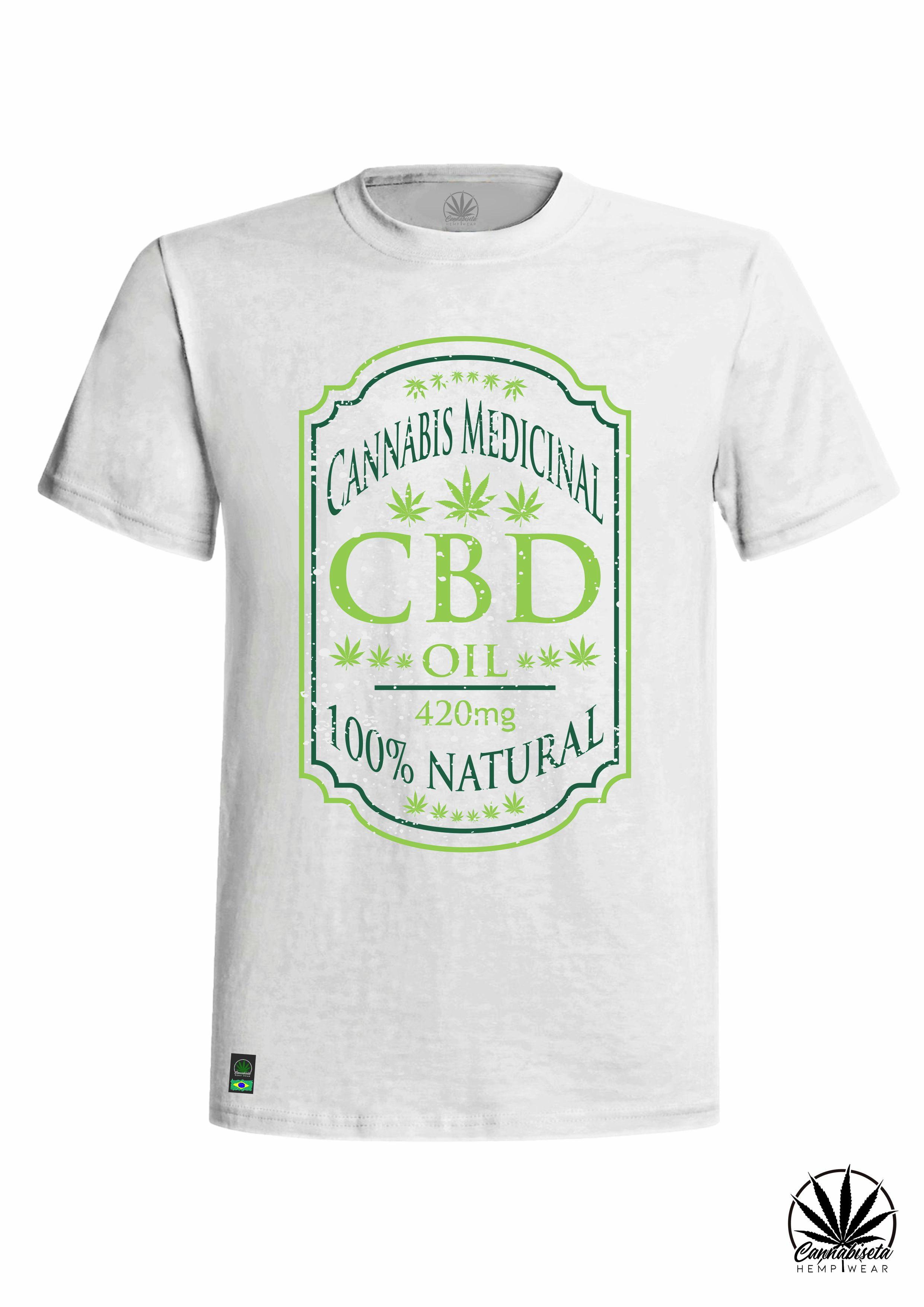 Camiseta Cbd Oil 420 No Elo7 Cannabiseta Hemp Wear Store 12bc7c5