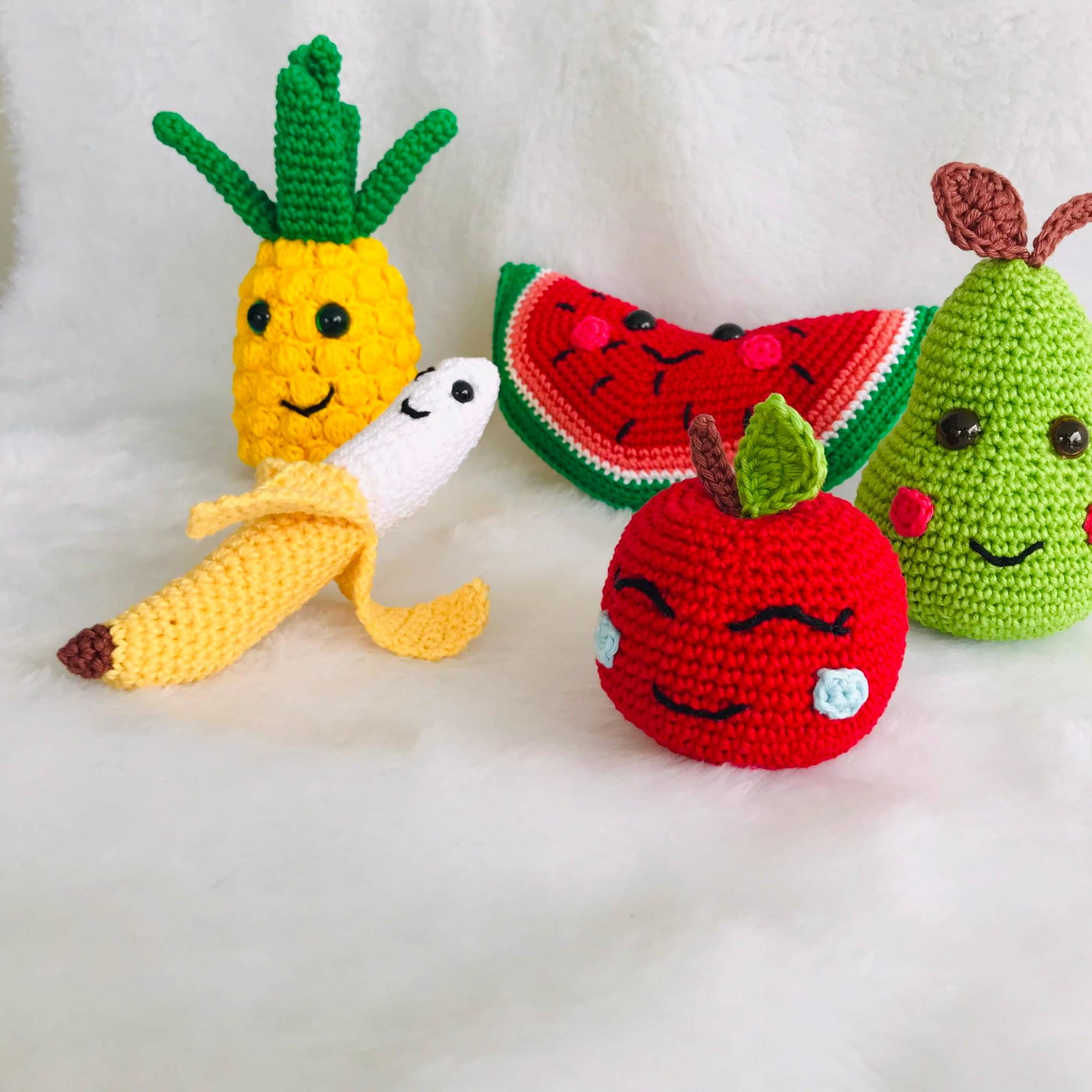 Prendedores Crochet Amigurumi Frutas Y Hortalizas - $ 170,00 en ... | 2000x2000