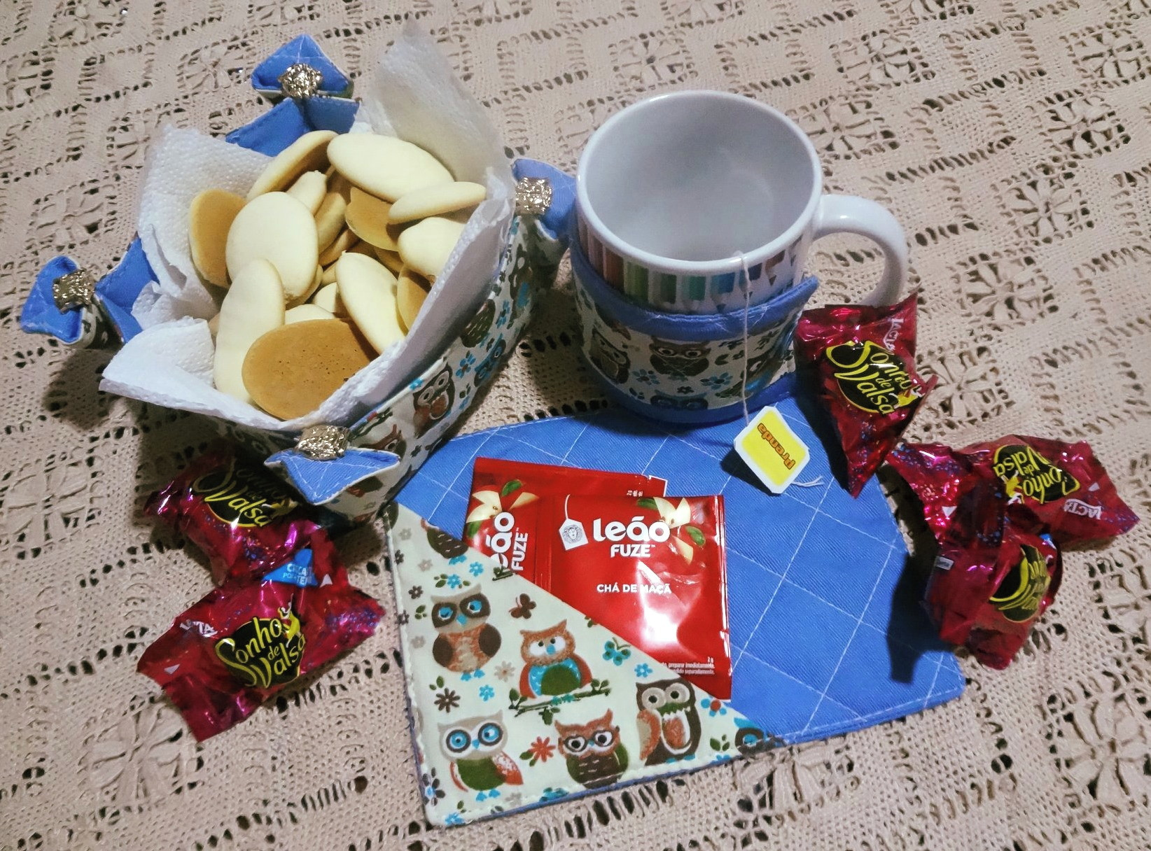 Kit Cafe Da Manha Mug Rug Corujinha No Elo7 Sandra Aro 12d5873