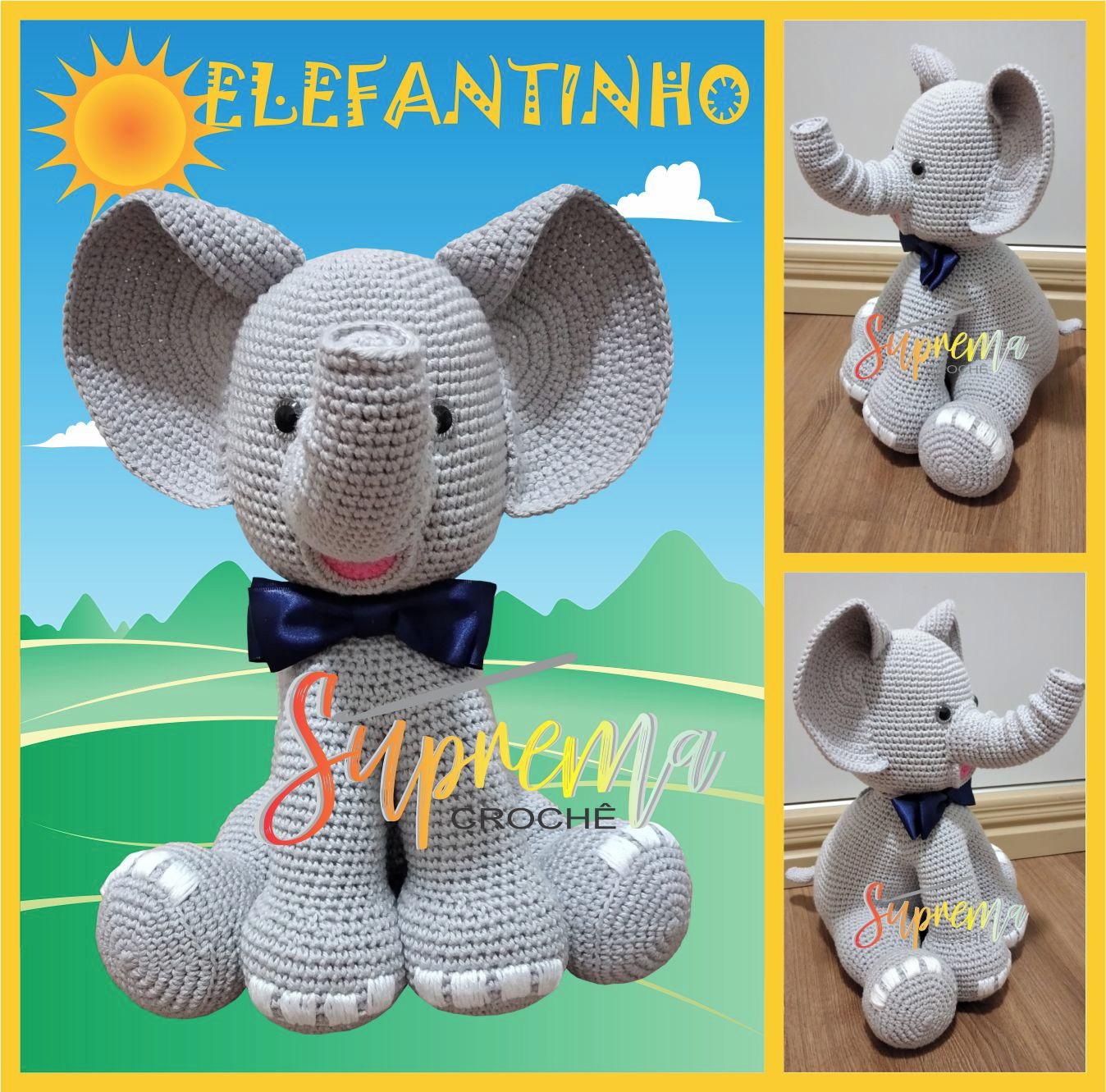 Amigurumi crochet pattern (English) - Ellie the elephant | Crochet ... | 1331x1348