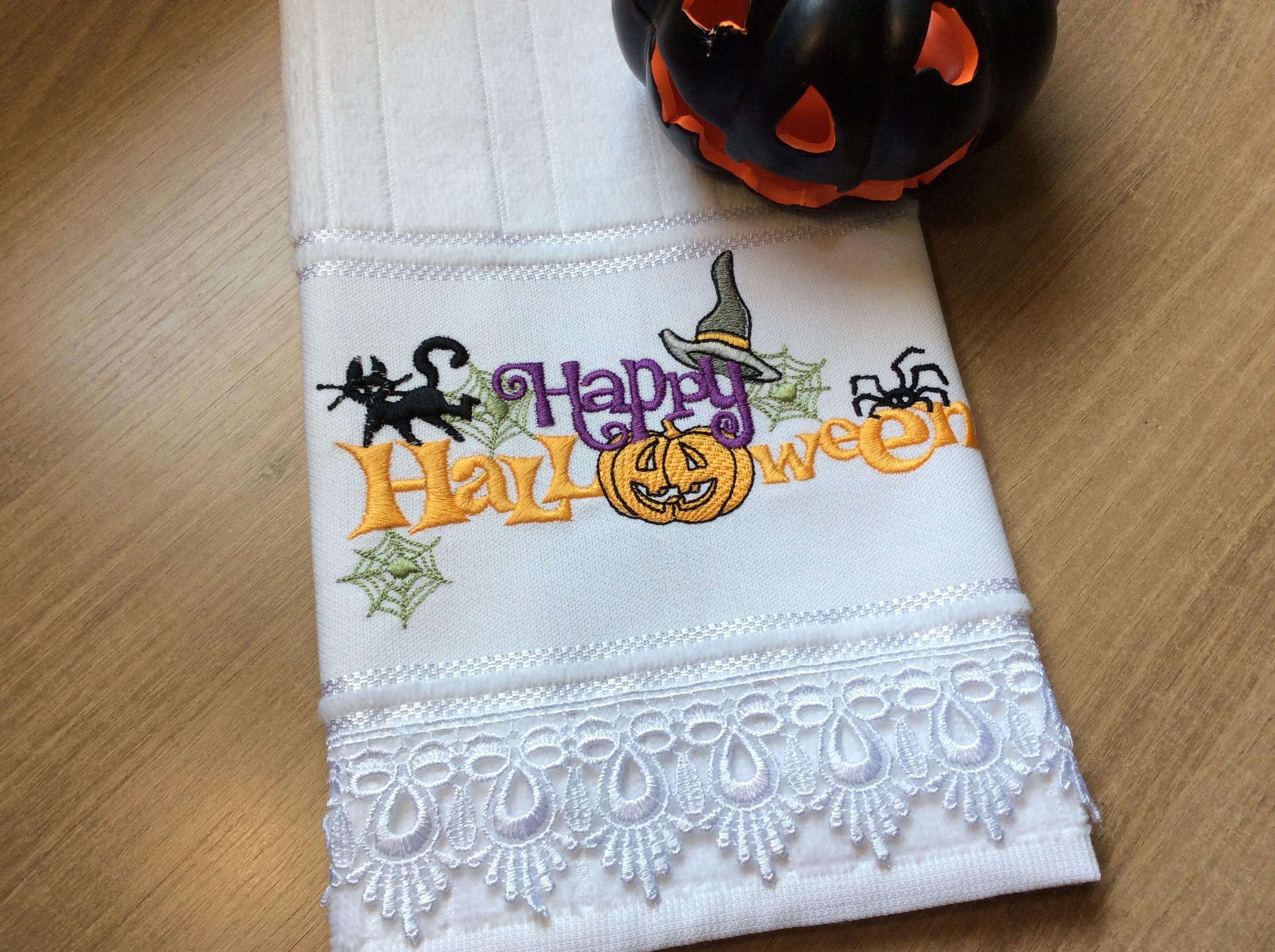 Toalha De Lavabo Halloween No Elo7 Arte Em Bordado By Emilene 1405b5b
