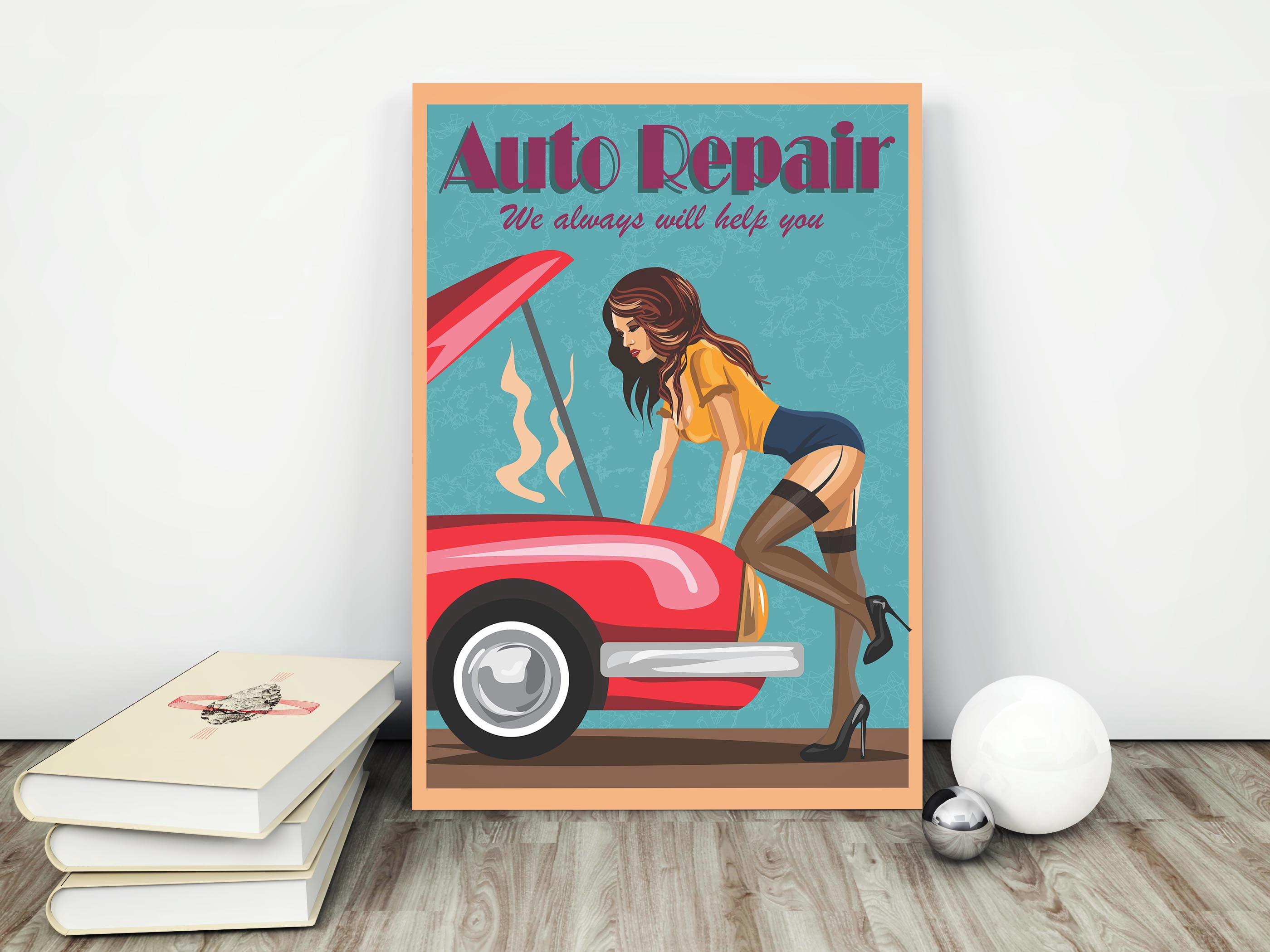 Quadro Placa 40x60cm Woman Auto Repair No Elo7 Quadros Placas Decorativas E Stickers Adesivos Arte Em Poster 143fb23