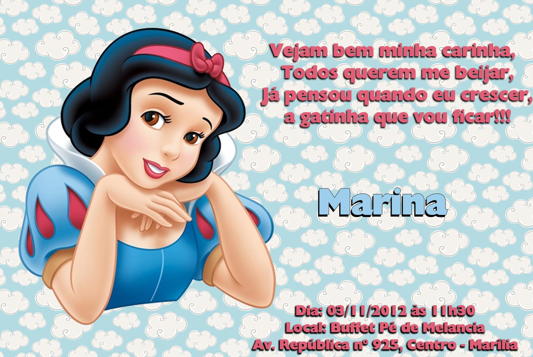 Convite Branca De Neve No Elo7 Ateliê Da Naty 2889de