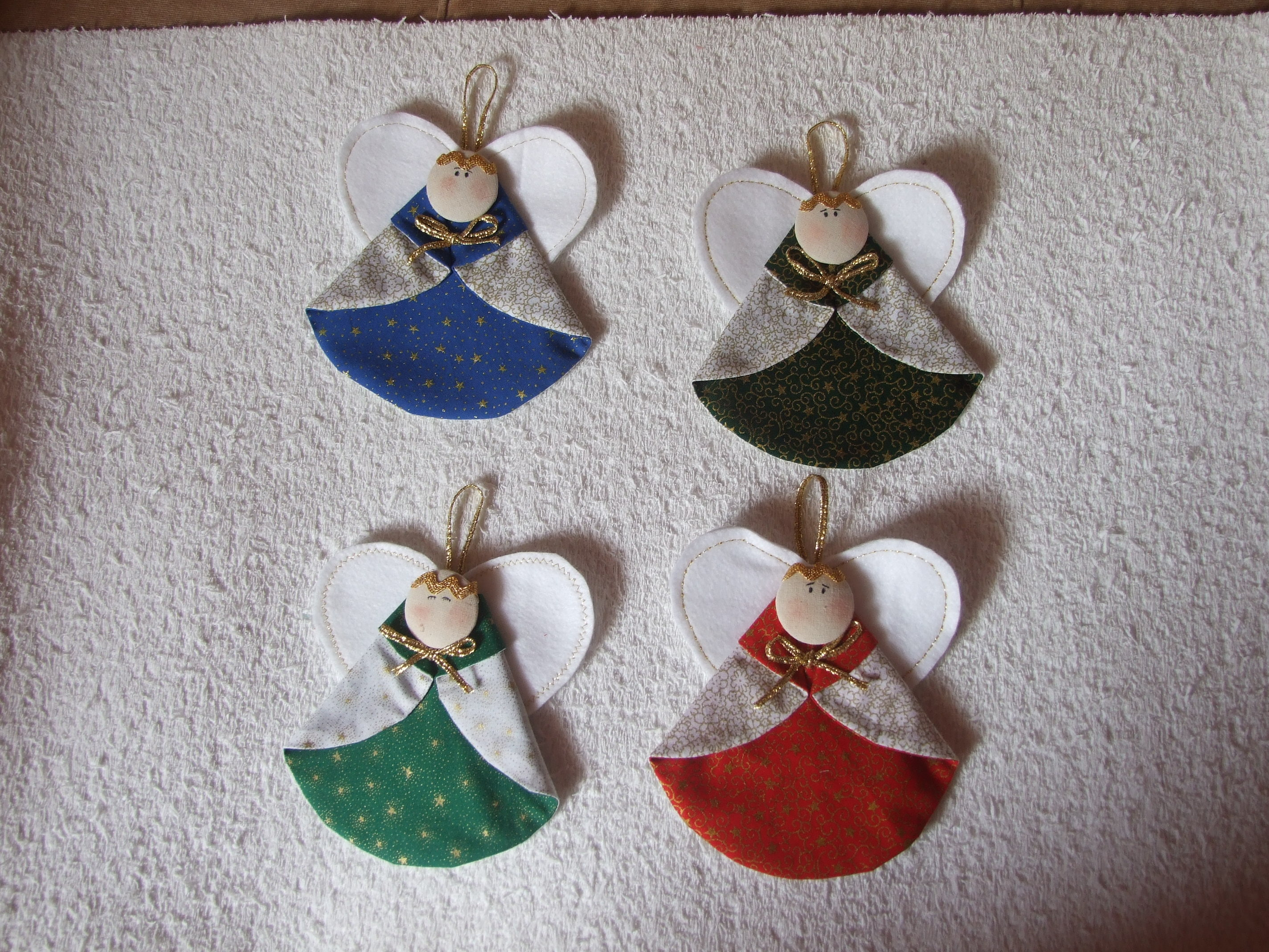 Enfeite De Natal ~ Enfeites para arvore de natal Anjos Arte Belo Elo7