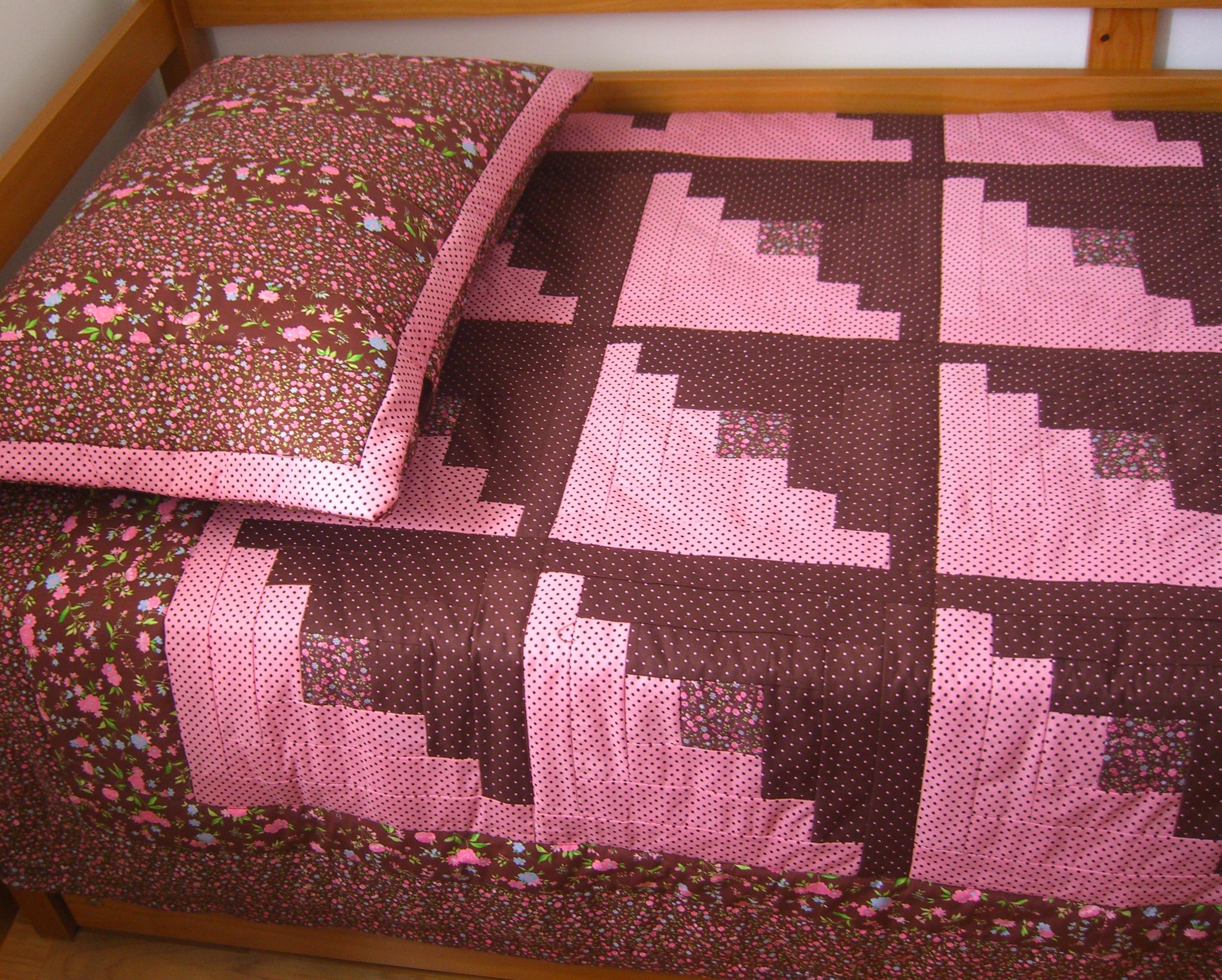 Colcha solteiro patchwork cabana de tora pabo artes elo7 - Colcha patchwork ...