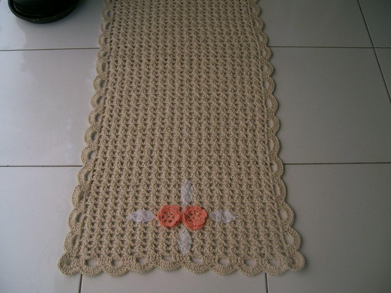 Conhecido Passadeira de Croche   Elo7 GC17