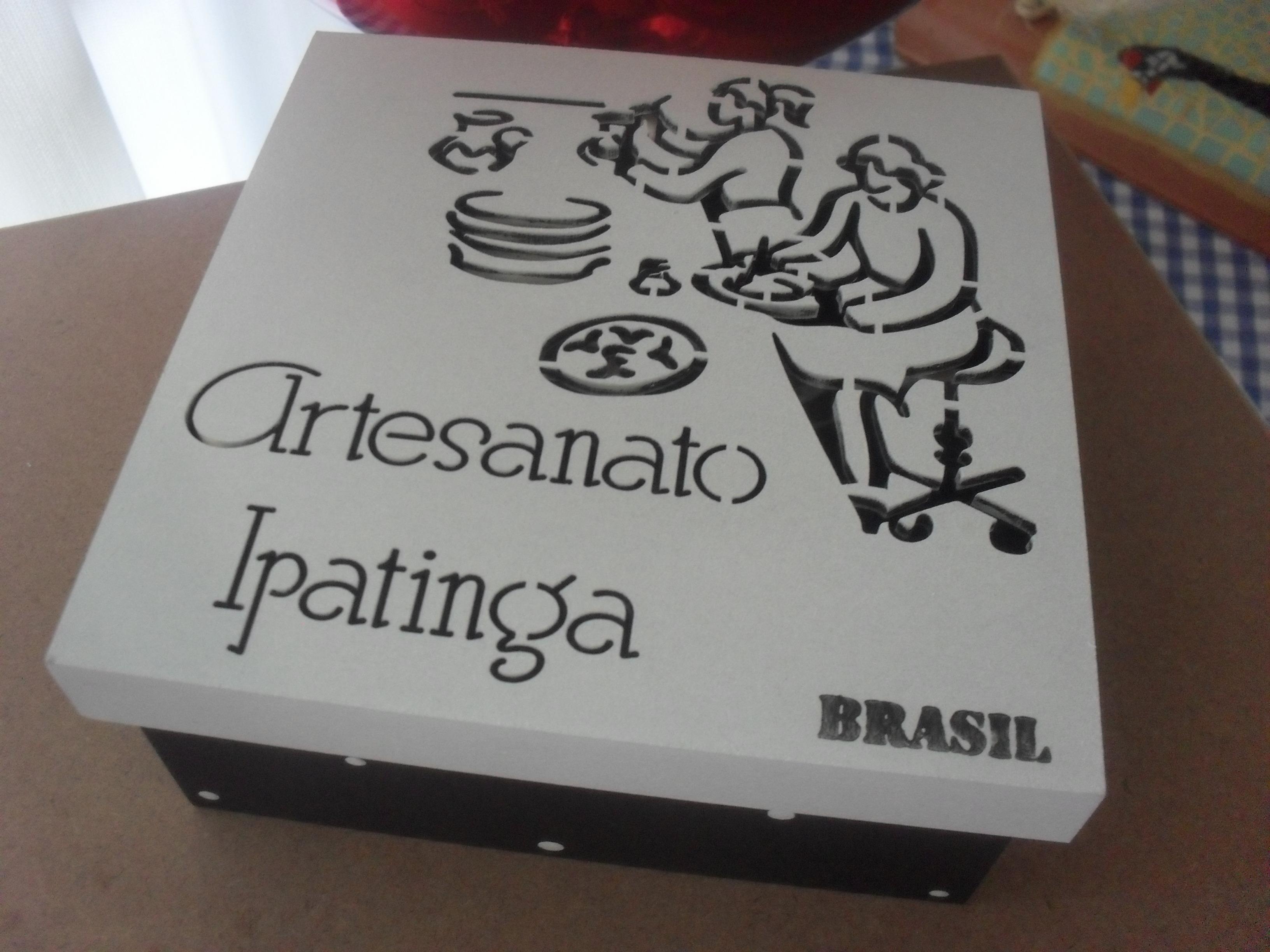 Aparador Para Ficar Atras Do Sofa ~ caixa brasil artesanato ipatinga artesanatoipatinga Elo7