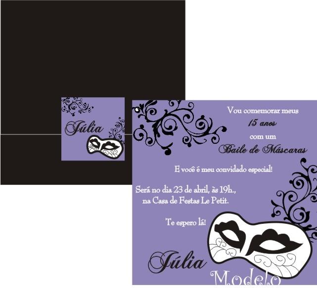 Convite Baile Realeza  dcf636e162e