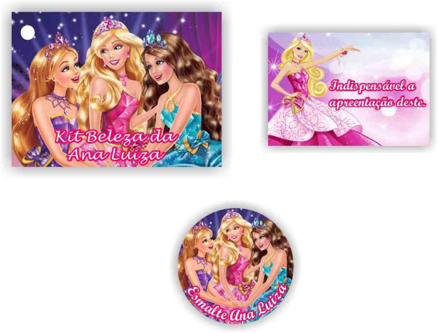 Barbie Escola De Princesas Tag Rotulo No Elo7 Marga