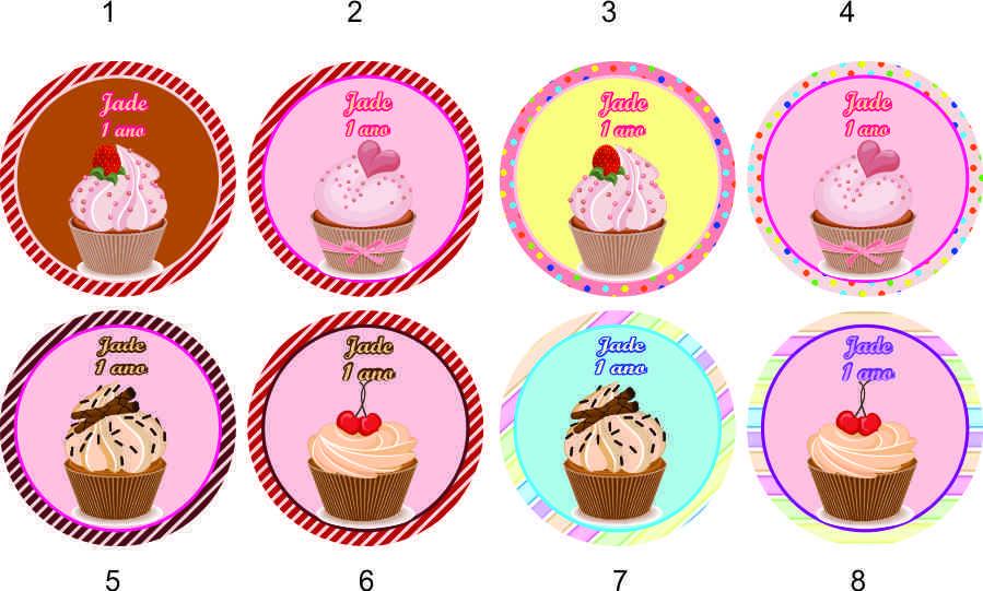 cupcake Ímã geladeira tag rótulo no elo7 marga brindes 2add82