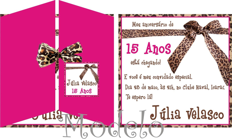 Convite Oncinha Elo7