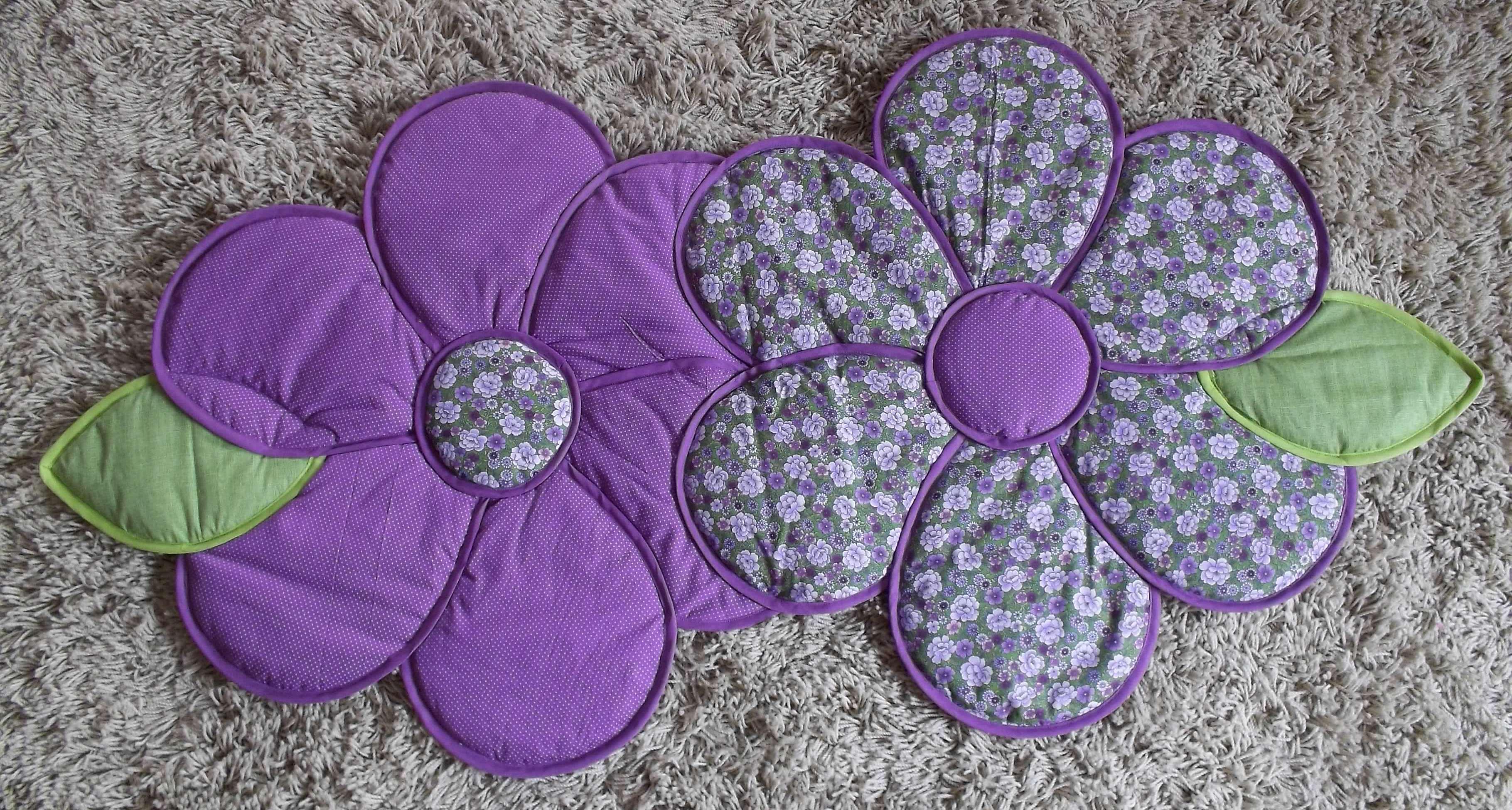 tapete flor dupla mimos em tecido by bianca dutra elo7. Black Bedroom Furniture Sets. Home Design Ideas